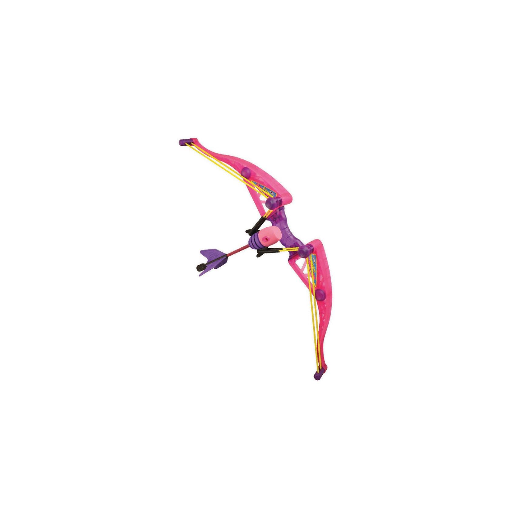 Лук Амазонка, ZingБластеры, пистолеты и прочее<br>Красивый розовый лук Амазонка от Zing (Зинг) , созданный специально для девочек! Эта легкая, прочная и безопасная игрушка быстро заряжается и позволяет стрелять далеко и метко. Лук Air Huntress Z-Curve – идеальное оружие для юной амазонки! Безопасные мягкие стрелы летят точно в цель и при этом не способны нанести вред ни стрелку, ни окружающим его людям и предметам. Лук для девочек легко заряжается и отличается прекрасной дальностью полета – до 70 метров! Игрушка Zing (Зинг) предназначена для активного отдыха на свежем воздухе, а ее современный дизайн понравится любой девочке. Стрельба из лука обеспечивает увлекательное времяпрепровождение, развивает меткость и глазомер.<br><br>Дополнительная информация:<br><br>- Комплектация: лук для девочек Z-Curve, 2 стрелы с мягким наконечником, стрела с присоской, держатель для стрел;<br>- Игрушка развивает меткость и координацию;<br>- Лук оснащен мягкими стрелами из вспененного полиуретана;<br>- Дальность полета стрел до 70 метров;<br>- Игрушка полностью безопасна как для стрелка, так и для окружающих;<br>- Игрушка идеальна для игр на улице;<br>- Материал: пластик;<br>- Размер упаковки: 60 х 10 х 20 см;<br>- Вес: 530 г<br><br>Лук Амазонка, Zing (Зинг) можно купить в нашем интернет-магазине.<br><br>Ширина мм: 600<br>Глубина мм: 100<br>Высота мм: 200<br>Вес г: 530<br>Возраст от месяцев: 96<br>Возраст до месяцев: 2147483647<br>Пол: Женский<br>Возраст: Детский<br>SKU: 3650797