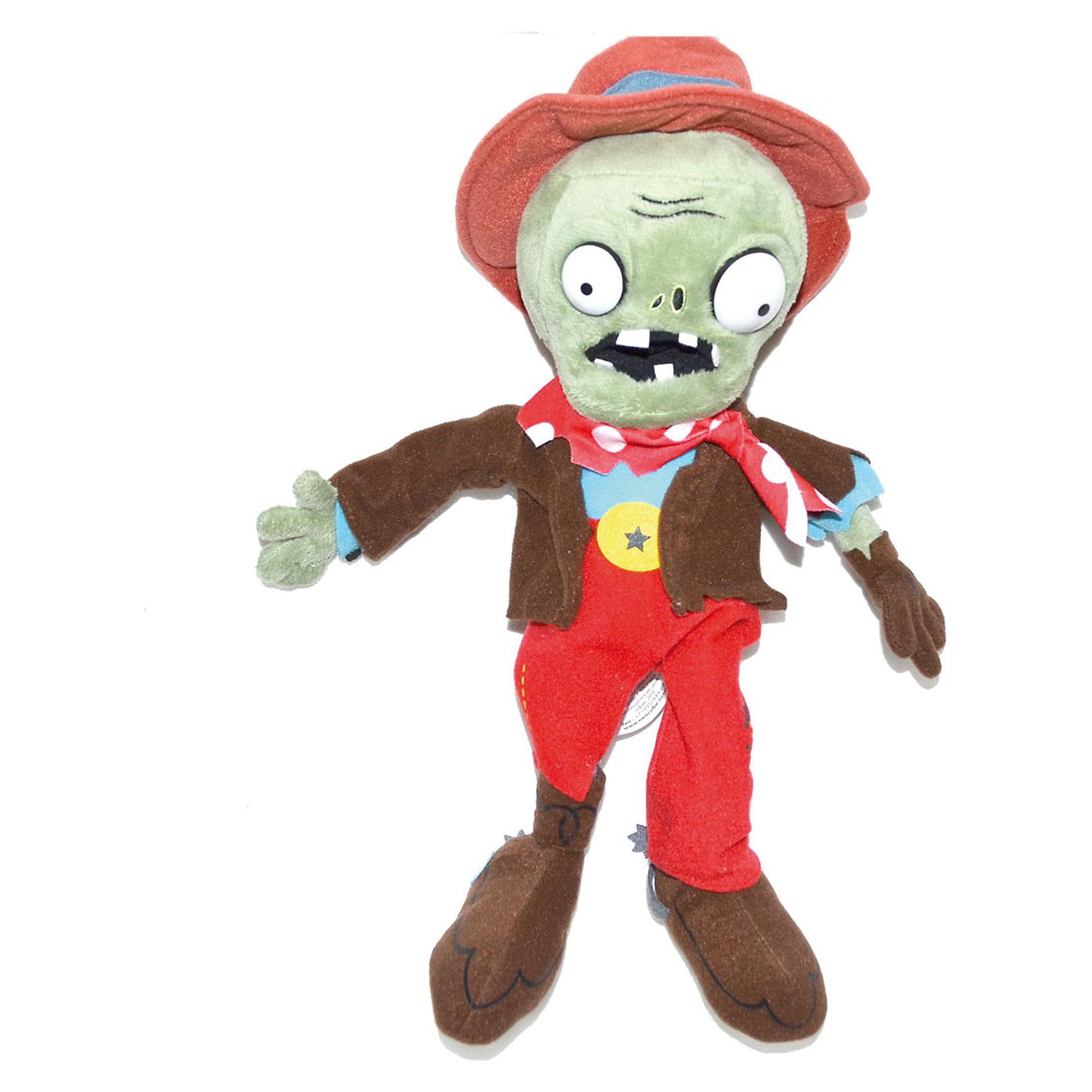 Плюшевая игрушка Зомби Ковбой, 30 см, Растения против ЗомбиСпециально для фанатов компьютерной игры Растения против Зомби, которая набирает все большую и большую популярность, компания Plants vs Zombies разработала целую линейку мягких игрушек по мотивам игры.  <br>Плюшевая игрушка Зомби Ковбой - это настоящий «must have» для фанатов Plants vs. Zombies, а также для всех поклонников зомби-культуры – даже тех, кто, хоть это и сложно себе представить, до сих пор не знаком со знаменитой игрой. Яркий и неповторимый персонаж украсит любую коллекцию мягких игрушек, а также просто станет веселым и необычным сувениром, поднимет настроение и взрослым, и детям! Игрушка представляет точную копию персонажа компьютерной игры. Выполненная из качественных материалов игрушка не содержит токсичных веществ и не вызывает аллергии. Наряд игрушки-зомби очень интересный и необычный, так как он одет в яркую, забавную ковбойскую одежду с непременными атрибутами: шляпой и шейным платком. Следует заметить, что такой сувенир будет приятен и взрослым людям, которые любят смотреть фильмы про зомби. Купив плюшевую игрушку «Зомби Ковбой» своему ребенку, можете быть уверенными в том, что он останется довольным и будет гордиться им. С ним можно играть как в помещении, так и на улице. Благодаря такой игрушке, у Вашего ребенка будет развиваться фантазия.<br><br>Дополнительная информация:<br><br>- Игрушка выполнена по мотивам популярной игры Растения против Зомби (Plants vs Zombies);<br>- Прекрасный подарок, как для взрослого, так и для ребенка;<br>- Материал: искусственный мех, текстиль, силикон, пластиковые элементы;<br>- Высота игрушки: 30 см;<br>- Размер упаковки: 30 х 14 х 7 см;<br>- Вес: 160г<br><br>Плюшевую игрушку Зомби Ковбой 30 см, можно купить в нашем интернет-магазине.<br><br>Ширина мм: 300<br>Глубина мм: 140<br>Высота мм: 70<br>Вес г: 160<br>Возраст от месяцев: 36<br>Возраст до месяцев: 2147483647<br>Пол: Унисекс<br>Возраст: Детский<br>SKU: 3650804