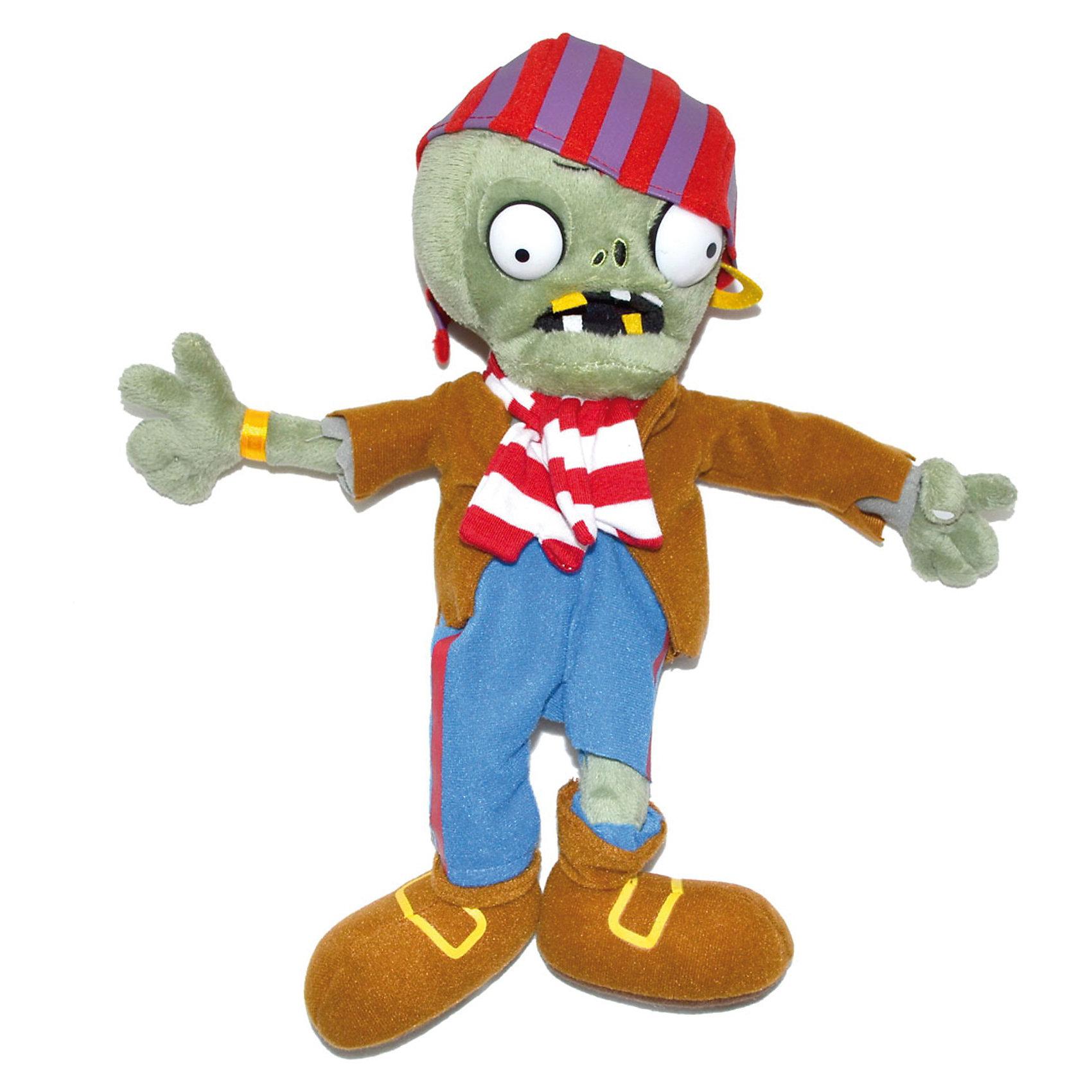 Плюшевая игрушка Зомби Пират, 30 см, Растения против ЗомбиСпециально для фанатов компьютерной игры Растения против Зомби, которая набирает все большую и большую популярность, компания Plants vs Zombies разработала целую линейку мягких игрушек по мотивам игры.  <br>Плюшевая игрушка Зомби Пират - это настоящий «must have» для фанатов Plants vs. Zombies, а также для всех поклонников зомби-культуры – даже тех, кто, хоть это и сложно себе представить, до сих пор не знаком со знаменитой игрой. Яркий и неповторимый персонаж украсит любую коллекцию мягких игрушек, а также просто станет веселым и необычным сувениром, поднимет настроение и взрослым, и детям! Игрушка представляет точную копию персонажа компьютерной игры. Выполненная из качественных материалов игрушка не содержит токсичных веществ и не вызывает аллергии. Наряд игрушки-зомби очень интересный и необычный, так как он одет в яркую, забавную пиратскую одежду с непременными атрибутами: серьгой и шляпой. Следует заметить, что такой сувенир будет приятен и взрослым людям, которые любят смотреть фильмы про зомби. Купив плюшевую игрушку «Зомби Пират» своему ребенку, можете быть уверенными в том, что он останется довольным и будет гордиться им. С ним можно играть как в помещении, так и на улице. Благодаря такой игрушке, у Вашего ребенка будет развиваться фантазия.<br><br>Дополнительная информация:<br><br>- Игрушка выполнена по мотивам популярной игры Растения против Зомби (Plants vs Zombies);<br>- Прекрасный подарок, как для взрослого, так и для ребенка;<br>- Материал: искусственный мех, текстиль, силикон, пластиковые элементы;<br>- Высота игрушки: 30 см;<br>- Размер упаковки: 30 х 14 х 7 см;<br>- Вес: 160г<br><br>Плюшевую игрушку Зомби Пират 30 см, можно купить в нашем интернет-магазине.<br><br>Ширина мм: 300<br>Глубина мм: 140<br>Высота мм: 70<br>Вес г: 160<br>Возраст от месяцев: 36<br>Возраст до месяцев: 2147483647<br>Пол: Унисекс<br>Возраст: Детский<br>SKU: 3650806