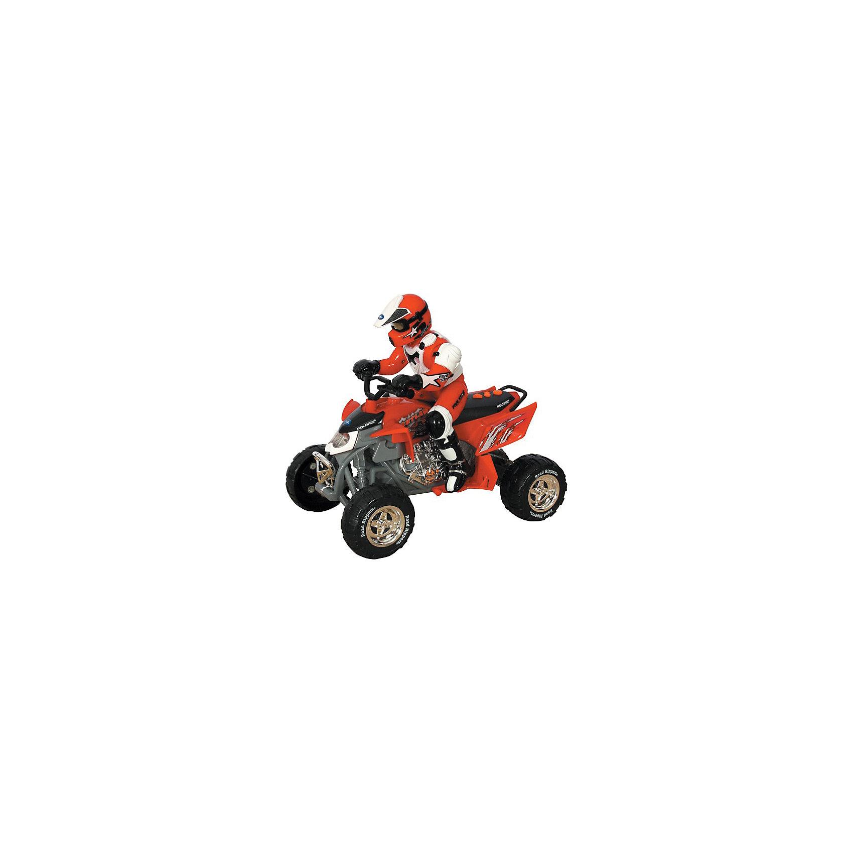 Квадроцикл/трицикл, с гонщиком, со светом и звуком, ToystateКвадроцикл/трицикл Road Rippers, с гонщиком, со светом и звуком, Toystate, в ассортименте - прекрасная модель для вашего малыша. Игрушка оснащена звуковыми и световыми эффектами, что делает игрушку ещё более реалистичной и увлекательной. Игрушка изготавливается по новейшим технологиям, из высококачественного материала с использованием гипоаллергенных красителей.<br><br>Дополнительная информация:<br><br>- Тип батареек: 3 х АА / LR6 1.5V (в комплекте нет)<br>- Материал: металл, пластмасса<br>- Размер коробки: 29 х 25.5 х 16 см.<br>- Вес: 1020 гр.<br><br>ВНИМАНИЕ! Данный артикул имеется в наличии в различных цветовых исполнениях (желтый, красный, оранжевый). К сожалению, заранее выбрать определенный цвет невозможно. При заказе нескольких игрушек возможно получение одинаковых<br><br>Квадроцикл/трицикл, с гонщиком, со светом и звуком, Toystate, в ассортименте можно купить в нашем интернет-магазине.<br><br>Ширина мм: 650<br>Глубина мм: 800<br>Высота мм: 310<br>Вес г: 1020<br>Возраст от месяцев: 24<br>Возраст до месяцев: 60<br>Пол: Мужской<br>Возраст: Детский<br>SKU: 3665517
