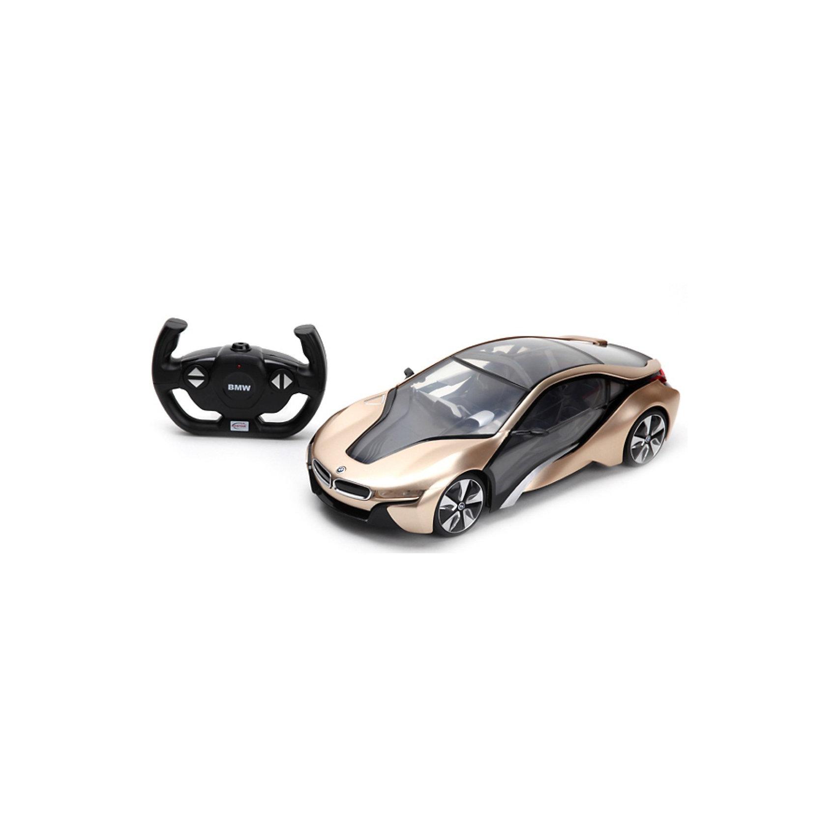 Машина  i8 1:14, на р/у, RASTARМашина  i8 1:14, на р/у, RASTAR (Растар) – это точная копия  инновационного концепт-кара компании BMW.<br>Прекрасная радиоуправляемая модель суперкара BMW i8 обязательно понравится вашему мальчику! Такой  автомобиль обязательно должен быть в гараже вашего ребенка! Качество и детальная проработка, без всяких сомнений, приятно поразит Вас и ваше чадо! Ее отличная маневренность позволяет без трудностей передвигаться вперед и назад, поворачивать вправо и влево. Машина оснащена световыми эффектами, что сделает игру еще интереснее. Порадуйте своего мальчика таким восхитительным подарком!<br><br>Дополнительная информация:<br><br>- Модель: BMW i8<br>- Масштаб: 1:14<br>- Батарейки: 5 шт. типа AA (для машины), 1 шт. типа 9V (для пульта) - (в комплект не входят)<br>- Материал: металл, пластмасса<br>- Размер упаковки: 55 x 48 x 45 см.<br>- Вес: 1400 гр.<br><br>Машину  i8 1:14, на р/у, RASTAR (Растар) можно купить в нашем интернет-магазине.<br><br>Ширина мм: 480<br>Глубина мм: 550<br>Высота мм: 450<br>Вес г: 1400<br>Возраст от месяцев: 36<br>Возраст до месяцев: 144<br>Пол: Мужской<br>Возраст: Детский<br>SKU: 3665523