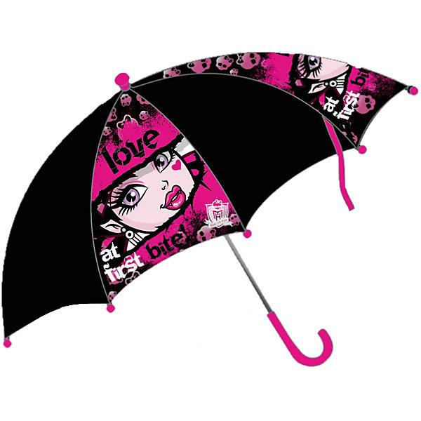 Зонт-трость, Monster HighЗонты детские<br>Зонт-трость, Monster High (Монстр Хай) – это стильный аксессуар для девочек, которые увлечены мультсериалом Школа монстров.<br>Компактный детский зонтик-трость станет замечательным подарком для Вашего чада и защитит его не только от дождя, но и от солнца. Красочный дизайн зонтика поднимет настроение и станет незаменимым атрибутом прогулки. Ребенок сможет сам открывать и закрывать зонтик, благодаря легкому механизму, а оригинальная расцветка зонтика привлечет к себе внимание.<br><br>Дополнительная информация:<br><br>- Диаметр купола: 68 см.<br>- Длина в сложенном виде: 57 см.<br>- Количество спиц: 8 шт.<br>- Тип механизма: механический (открывается и закрывается вручную)<br>- Конструкция зонта: зонт-трость<br>- Материал: пластик, полиэстер, металл<br>- Вес: 260 гр.<br>- Страна-изготовитель: Китай<br><br>Зонт-трость, Monster High (Монстр Хай) можно купить в нашем интернет-магазине.<br><br>Ширина мм: 570<br>Глубина мм: 75<br>Высота мм: 40<br>Вес г: 260<br>Возраст от месяцев: 36<br>Возраст до месяцев: 108<br>Пол: Женский<br>Возраст: Детский<br>SKU: 3667806