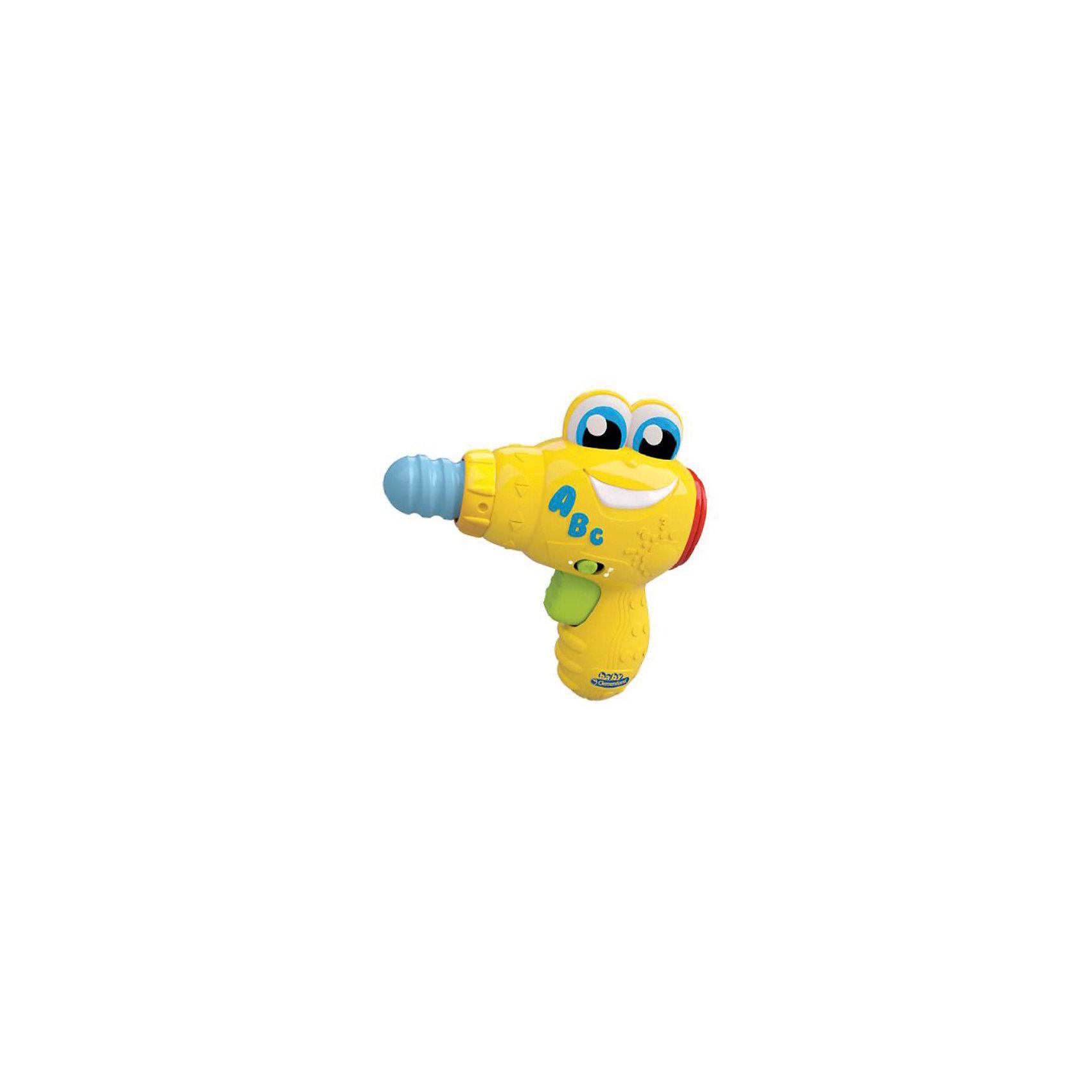 Дрель Берт, Baby ClementoniВеселая Дрель Берт от Baby Clementoni (Беби Клементони) - это забавная развивающая игрушка, которая привлечет и позабавит Вашего малыша. Берт выглядит как настоящая дрель, у нее веселая улыбающаяся мордочка и вращающееся сверло.<br><br>На боку Берта буквы, которые малыш сможет запомнить и прослушать, и разноцветные кнопочки, при нажатии на которые его ждут звуковые сюрпризы и веселые<br>песенки. При вращении сверла также раздаются забавные звуки. Игрушка развивает мелкую моторику, координацию движений, цветовое и звуковое восприятия. Дрель выполнена из прочного пластика без острых углов и полностью безопасна для малышей. <br><br>Дополнительная информация:<br><br>- Материал: пластик.<br>- Требуются батарейки; 3 х LR44 (входят в комплект).<br>- Размер упаковки: 20 х14 х 5 см.<br>- Вес: 159 гр.<br><br>Дрель Берт, Baby Clementoni можно купить в нашем интернет-магазине.<br><br>Ширина мм: 140<br>Глубина мм: 60<br>Высота мм: 200<br>Вес г: 200<br>Возраст от месяцев: 10<br>Возраст до месяцев: 36<br>Пол: Мужской<br>Возраст: Детский<br>SKU: 3674114