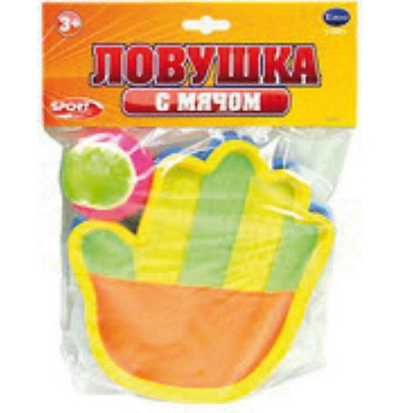 Ловушка с мячомИгровые наборы<br>Игровой набор детский Ловушка с мячом отлично подойдет для игры на открытом воздухе. <br><br>Игрушка представляет собой ловушку с поверхностью покрытой «липучкой», которая одевается на ладонь и мячик с ворсистой поверхностью. Игра заключается в ловле кинутого другим игроком (или отлетевшего от препятствия) мячика с помощью ловушки.<br><br>Комплектация: 2 перчатки-ловушки, мячик<br><br>Дополнительная информация: <br>-Материалы: ПВХ<br>-Размер упаковки: 39х20х3 см<br><br>Это одна из самых веселых игр для свежего воздуха, развивающая ловкость, координацию движений и скорость реакции.<br><br>Ловушку с мячом можно купить в нашем магазине.<br>Ширина мм: 390; Глубина мм: 200; Высота мм: 25; Вес г: 285; Возраст от месяцев: 36; Возраст до месяцев: 180; Пол: Унисекс; Возраст: Детский; SKU: 3676465;
