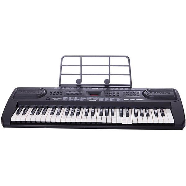 Синтезатор, 54 клавишиДетские музыкальные инструменты<br>Синтезатор, 54 клавиши – функциональное детское пианино, имеющее 54 электронные клавиши! С помощью этого синтезатора малыш сможет научиться играть на синтезаторе, записать свои мелодии ли прослушать встроенные в память композиции. <br><br>Особенности:<br>-100 тембров/100 ритмов<br>-вибрато, сустейн<br>-4 вида ударных, 4 голоса животных<br>-автоматические басы<br>-10 демо мелодий<br>-взятие аккорда одним или несколькими пальцами<br>-31 уровня темпа<br>-16 уровней громкости<br>-программирование ритма<br>-2 стерео динамика<br>-питание DC9V / AC220V<br>-54 клавиши с подсветкой<br>-микрофона нет<br>-2 обзорных режима<br><br>Комплектация: синтезатор, адаптер 220V, инструкция<br><br>Дополнительная информация:<br>-Сетевой адаптер 220 вольт (входит в комплект) или батарея типа Крона 9 V (в комплект не входит)<br>-Материалы: пластик<br>-Размеры: 78х30х7 см<br>-Микрофон в комплект не входит<br><br>С помощью этого синтезатора ребенок сможет развить свои музыкальные способности и порадовать друзей и близких великолепным концертом. Порадуйте его таким замечательным подарком!<br><br>Синтезатор, 54 клавиши можно купить в нашем магазине.<br><br>Ширина мм: 885<br>Глубина мм: 130<br>Высота мм: 340<br>Вес г: 5250<br>Возраст от месяцев: 36<br>Возраст до месяцев: 1188<br>Пол: Унисекс<br>Возраст: Детский<br>SKU: 3676466