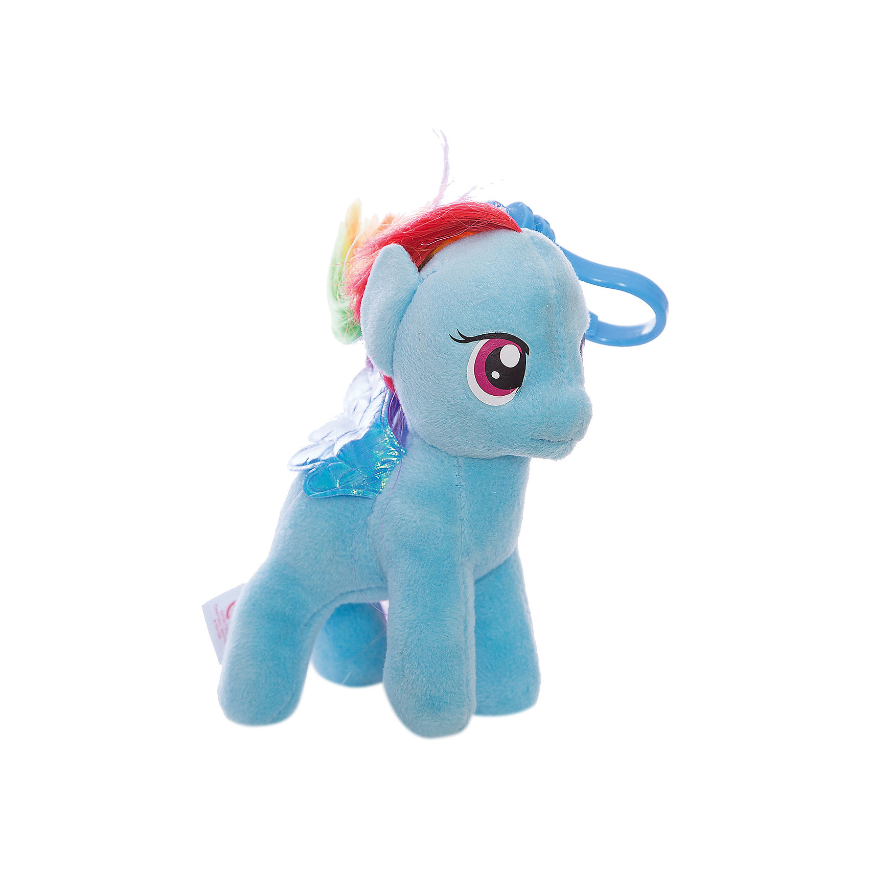 Пони Радуга Дэш, на брелке, My Little Pony, TyМаленькие девочки очень любят животных. Особенно любят лошадей. Для маленькой девочки нужна и маленькая лошадка. Такой лошадкой является пони. Вашей дочке обязательно понравится голубенькая малышка: Pony Rainbow Dash  (Пони Радуга Дэш), которая станет новой любимицей ребенка. Чудесная милая Пони имеет яркую красивую раскраску. Большие выразительные глаза пони смотрят с такой трогательной добротой, что так и хочется взять игрушку  на руки и заботиться об этой малютке. Мягкая игрушка оснащена удобным карабином, при помощи которого ее можно прикрепить к сумочке или к рюкзаку, чтобы никогда не расставаться!<br><br>Дополнительная информация:<br><br>- Игрушка развивает: тактильные навыки, зрительную координацию, мелкую моторику рук;<br>- Идеальный подарок для любителей серии: My Little Pony (Моя Маленькая Пони);<br>- Материалы не вызовут аллергии у Вашего малыша;<br>- Игрушка оснащена карабином, для крепления к сумочке;<br>- Яркие и стойкие цвета приятны для глаз;<br>- Материал: плюш, пластик;<br>- Высота игрушки: 15 см<br><br>Pony Rainbow Dash  (Пони Радуга Дэш), 15 см, My Little Pony, Ty можно купить в нашем интернет-магазине.<br><br>Ширина мм: 150<br>Глубина мм: 150<br>Высота мм: 152<br>Вес г: 30<br>Возраст от месяцев: 36<br>Возраст до месяцев: 120<br>Пол: Унисекс<br>Возраст: Детский<br>SKU: 3676487