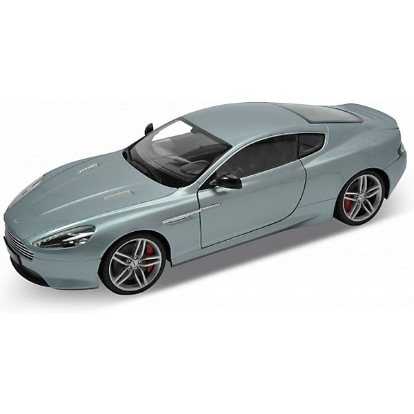 Модель машины 1:18 Aston Martin DB9, WellyМашинки<br>Модель машины 1:18 Aston Martin DB9, от Welly - мечта любого коллекционера или просто прекрасный подарок.<br>У модели открываются все двери, багажник и капот. Под капотом - детализированный двигатель. Детализирована так же выхлопная система под днищем. Поворачивающиеся передние колеса, руль. Автомобильные кресла выполнены из мягкого пластика, на ощупь похожего на кожу. Эта модель - настоящая машина, только в миниатюре.<br>Aston Martin DB9 — Gran Turismo, созданный Астон Мартин в 2004 году. DB9 — первый автомобиль, предназначенный для сборки на фабрике Aston в Гэйдоне. Аббревиатура «DB» происходит от инициалов David Brown, владельца компании Aston Martin в течение значительного промежутка времени её истории.<br><br>Дополнительная информация:<br><br>- Высокое качество сборки;<br>- Высокая степень детализации;<br>- Открываются все двери, багажник, капот;<br>- Модель Aston Martin;<br>- Цвет: серебро;<br>- Масштаб: 1:18;<br>- Материал: пластик, металл;<br>- Размер: 27 х 10 х 8,5 см<br><br>Модель машины 1:18 Aston Martin DB9, Welly можно купить в нашем интернет-магазине.<br><br>Ширина мм: 335<br>Глубина мм: 135<br>Высота мм: 335<br>Вес г: 1180<br>Возраст от месяцев: 48<br>Возраст до месяцев: 1188<br>Пол: Мужской<br>Возраст: Детский<br>SKU: 3679810