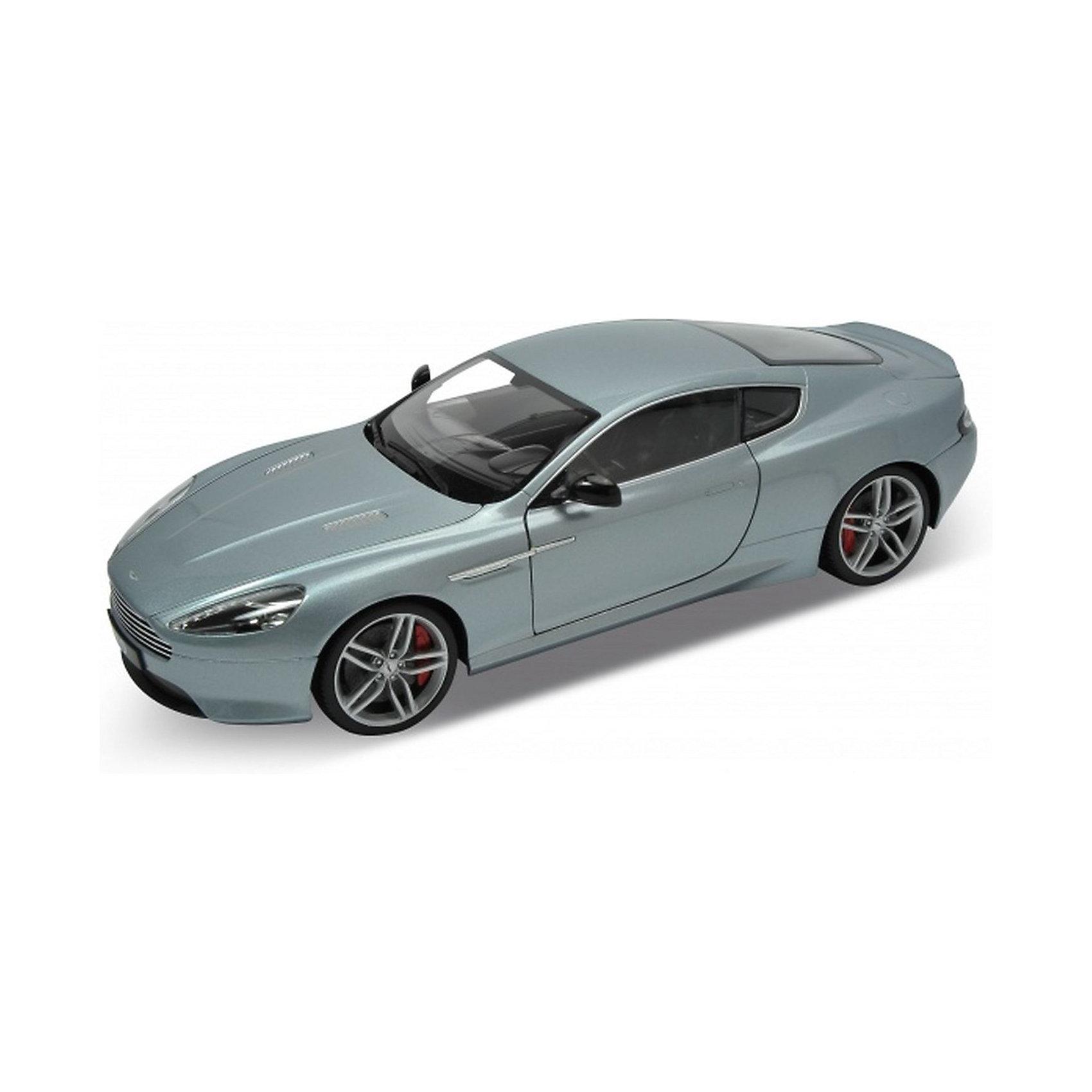 Модель машины 1:18 Aston Martin DB9, WellyКоллекционные модели<br>Модель машины 1:18 Aston Martin DB9, от Welly - мечта любого коллекционера или просто прекрасный подарок.<br>У модели открываются все двери, багажник и капот. Под капотом - детализированный двигатель. Детализирована так же выхлопная система под днищем. Поворачивающиеся передние колеса, руль. Автомобильные кресла выполнены из мягкого пластика, на ощупь похожего на кожу. Эта модель - настоящая машина, только в миниатюре.<br>Aston Martin DB9 — Gran Turismo, созданный Астон Мартин в 2004 году. DB9 — первый автомобиль, предназначенный для сборки на фабрике Aston в Гэйдоне. Аббревиатура «DB» происходит от инициалов David Brown, владельца компании Aston Martin в течение значительного промежутка времени её истории.<br><br>Дополнительная информация:<br><br>- Высокое качество сборки;<br>- Высокая степень детализации;<br>- Открываются все двери, багажник, капот;<br>- Модель Aston Martin;<br>- Цвет: серебро;<br>- Масштаб: 1:18;<br>- Материал: пластик, металл;<br>- Размер: 27 х 10 х 8,5 см<br><br>Модель машины 1:18 Aston Martin DB9, Welly можно купить в нашем интернет-магазине.<br><br>Ширина мм: 335<br>Глубина мм: 135<br>Высота мм: 335<br>Вес г: 1180<br>Возраст от месяцев: 48<br>Возраст до месяцев: 1188<br>Пол: Мужской<br>Возраст: Детский<br>SKU: 3679810