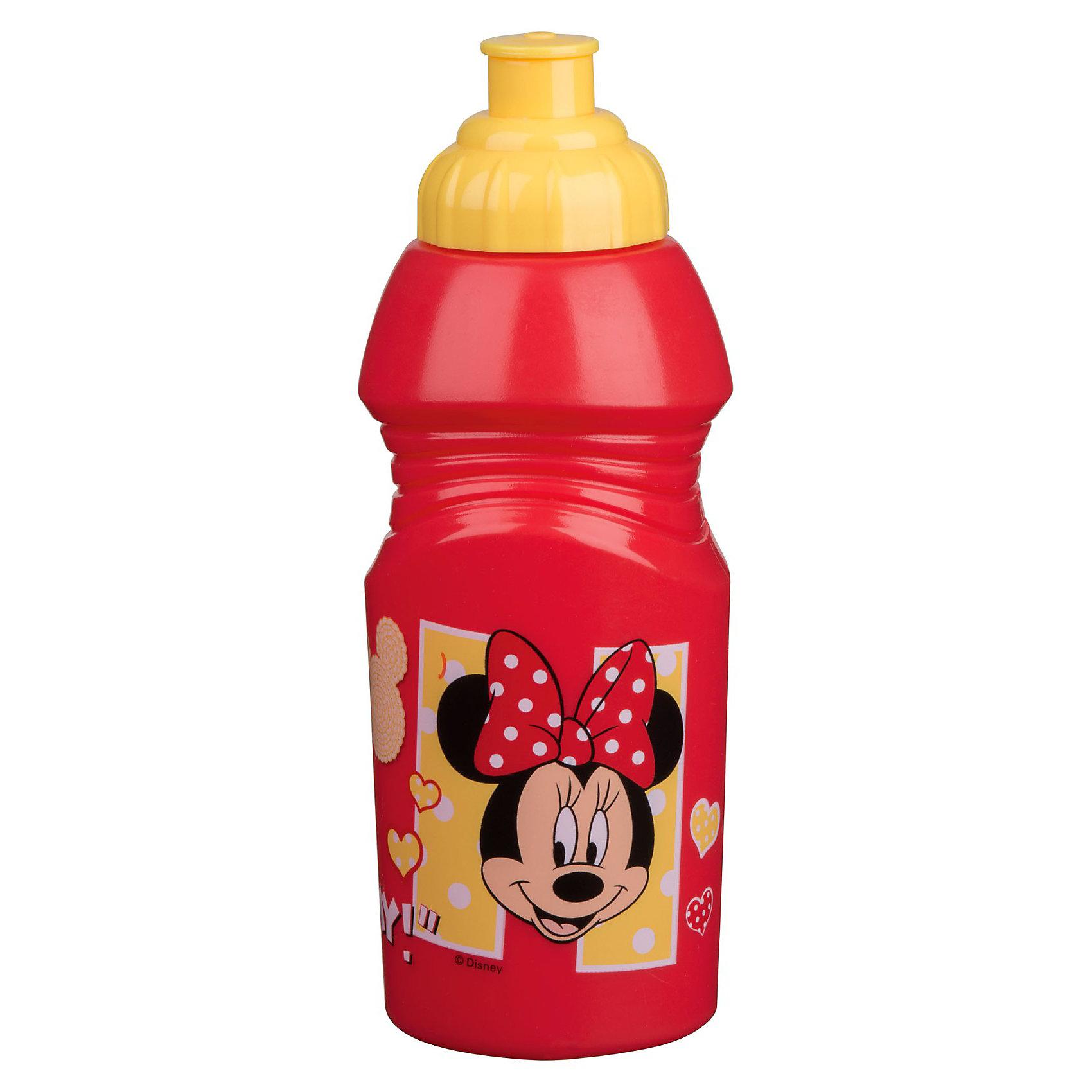 Новый Диск Бутылка спортивная малая (375 мл), Минни Маус бутылка спортивная 700 мл чёрная 1104075