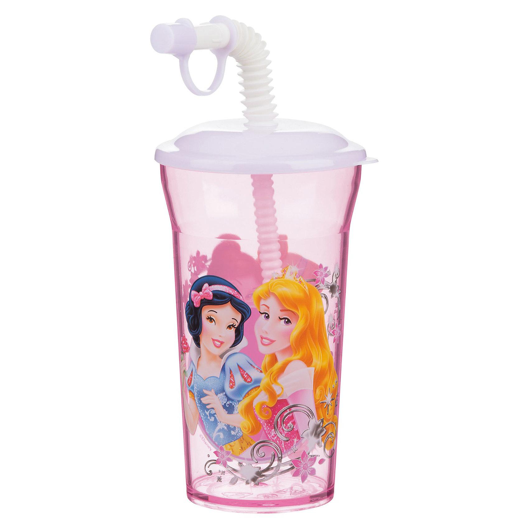 Новый Диск Стакан с крышкой и соломинкой (350 мл) Принцессы Дисней стаканы stor стакан пластиковый с соломинкой и крышкой спортивный 430 мл холодное сердце цветы