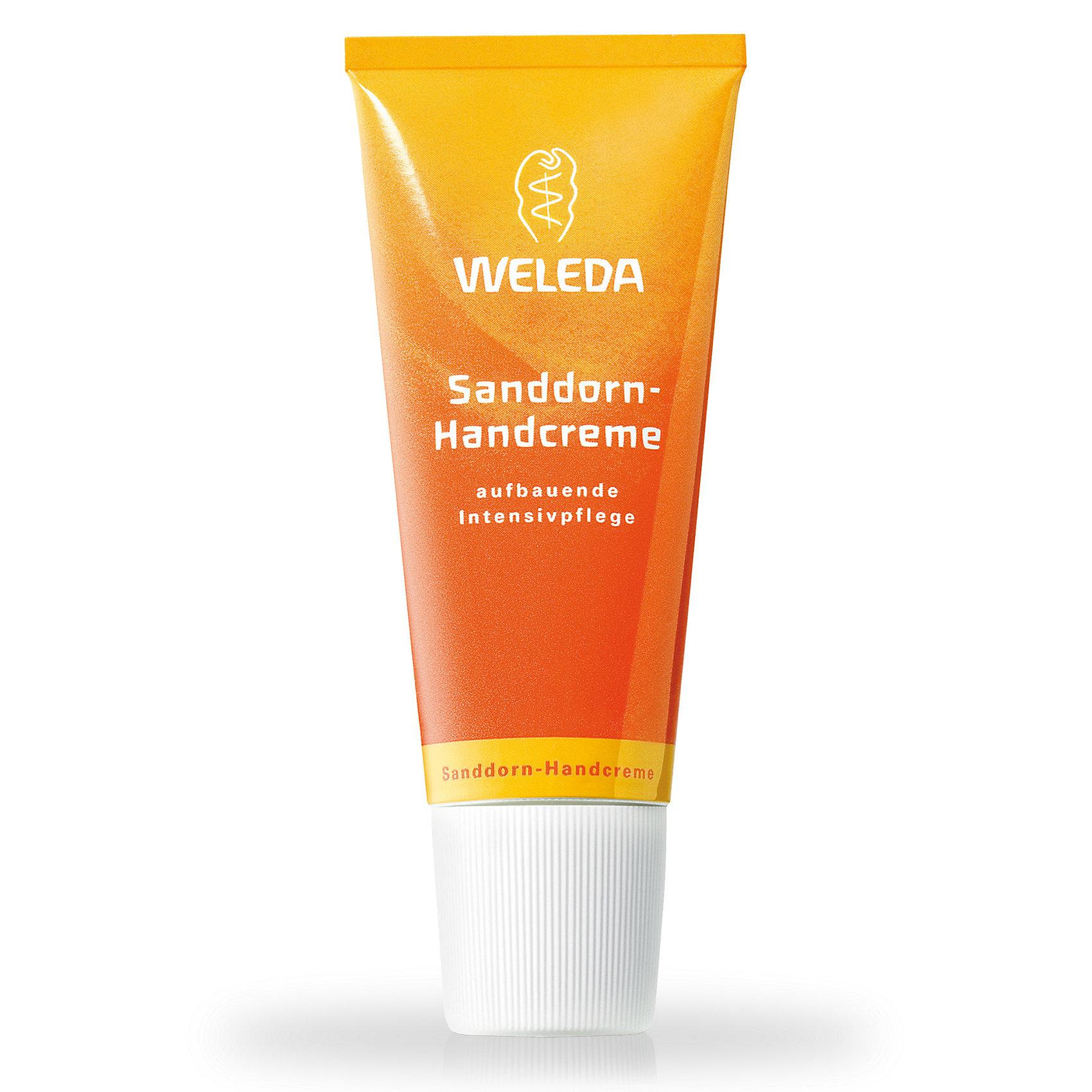 Крем для рук с облепихой, 50 мл., WeledaКрем для рук с облепихой, 50 мл., Weleda<br><br>Характеристики:<br><br>• Объем: 50 мл<br>• Содержит: масло облепихи и кунжута<br>• Производитель: Weleda<br><br>Нежный облепиховый крем для рук, подходящий для ежедневного дневного использования. Быстро впитывается кожей, а благодаря своему свежему фруктовому запаху пробуждает положительные эмоции и дарит энергию на продолжение дня.  В составе присутствует масло облепихи, богатое витамином С и ненасыщенными жирными кислотами. Благодаря этому эффективно защищает нежную кожу рук от сухости и потери влаги. Мягко регулирует природный баланс кожи, благодаря кунжутному маслу. Не содержит синтетических ароматизиторов, красителей, консервантов, а так же минеральных масел.<br><br>Крем для рук с облепихой, 50 мл., Weleda можно купить в нашем интернет-магазине.<br><br>Ширина мм: 132<br>Глубина мм: 48<br>Высота мм: 32<br>Вес г: 67<br>Возраст от месяцев: 216<br>Возраст до месяцев: 2147483647<br>Пол: Женский<br>Возраст: Детский<br>SKU: 3682935