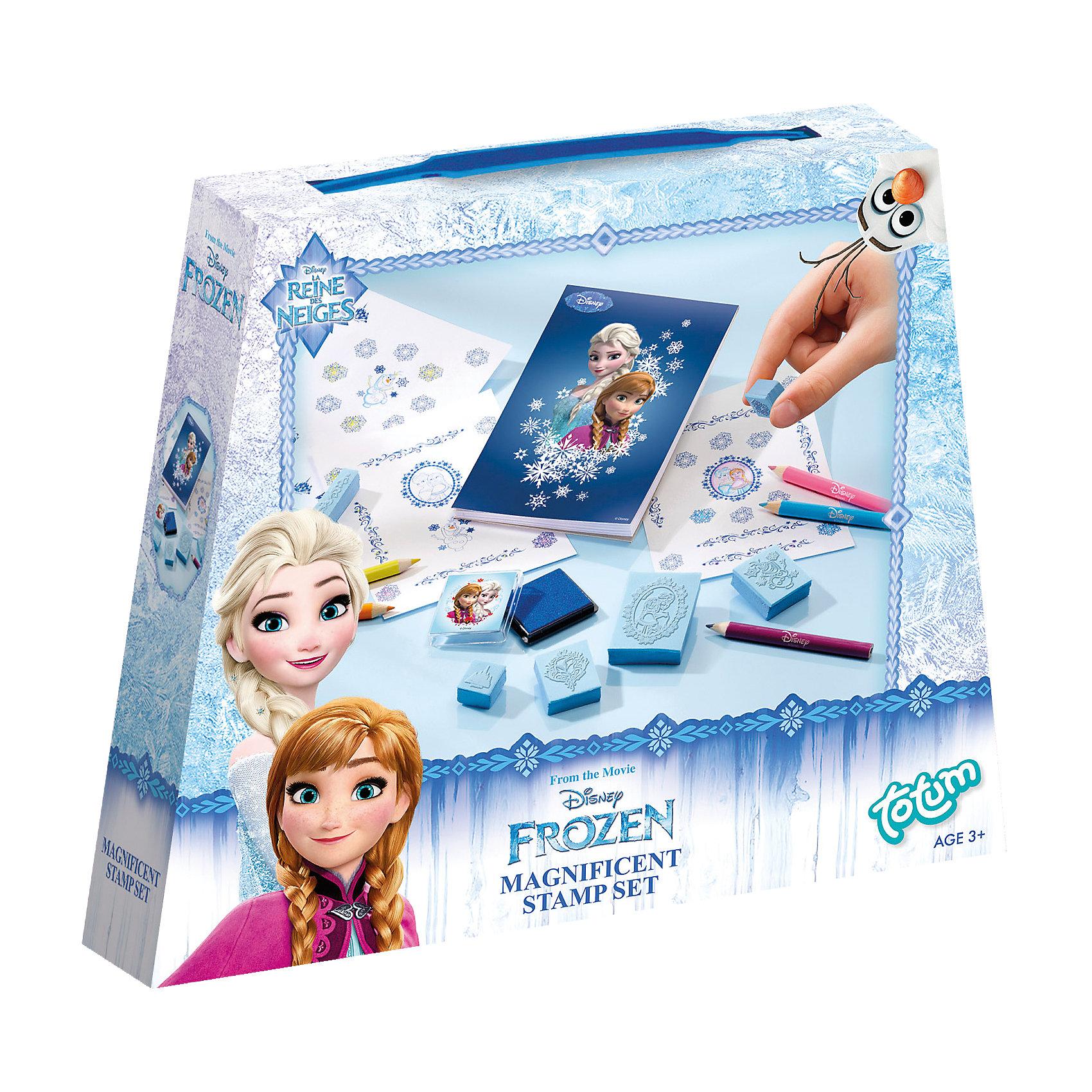 Набор для творчества Холодное сердце со штампамиЗаниматься творчеством интересно и весело, а с любимыми героинями - приятно вдвойне. Создавай свои шедевры, воплощай фантазии на бумаге. С помощью этого набора ты сможешь сделать красивую картинку, открытку или же оформить новогоднее поздравление в стиле Frozen.<br><br>Дополнительная информация:<br><br>- Комплектация: штампики с гравировкой в стиле мультфильма, цветные карандаши, чернильница, инструкция. <br>-  Материал: пластик, дерево, чернила.  <br><br>Набор для творчества Холодное сердце (Frozen), со штампами, можно купить в нашем магазине.<br><br>Ширина мм: 183<br>Глубина мм: 154<br>Высота мм: 38<br>Вес г: 110<br>Возраст от месяцев: 48<br>Возраст до месяцев: 96<br>Пол: Женский<br>Возраст: Детский<br>SKU: 3683247