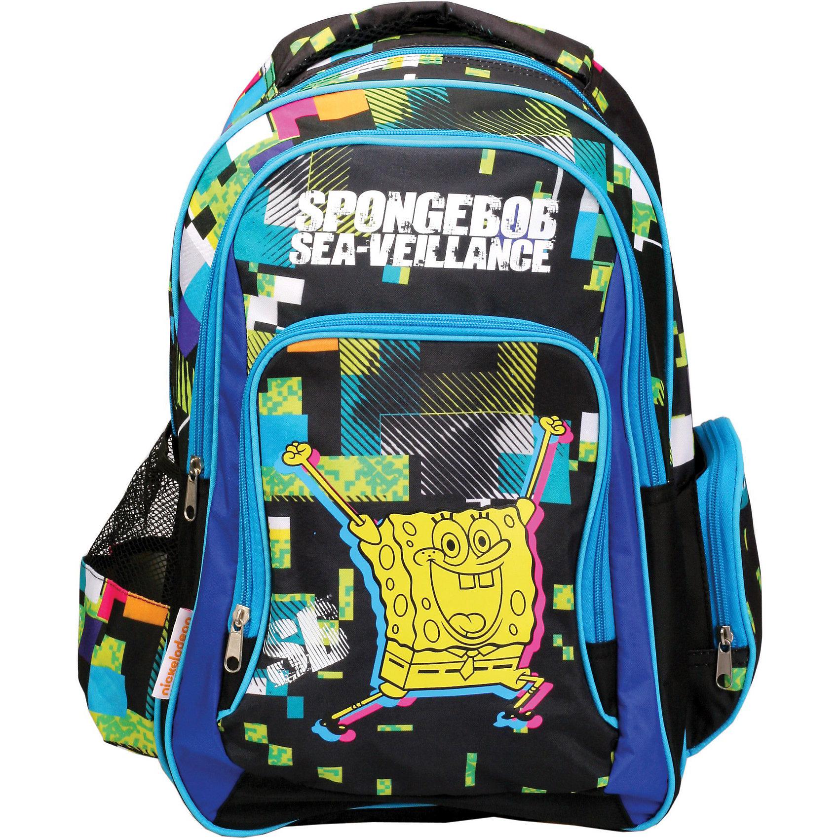 Школьный рюкзак Губка БобРюкзак, Губка Боб – это яркий рюкзак украшенный изображением мультипликационного персонажа - доброго и улыбчивого Губки Боба  (SpongeBob Square Pants).<br>У рюкзака уплотненная спинка, широкие мягкие регулируемые лямки. Рюкзак имеет одно вместительное отделение, фронтальный карман на молнии и два боковых кармана.<br><br>Дополнительная информация:<br><br>- Размер: 41 х 28 х 18 см.<br>- Вес: 535 гр.<br>- Материал: полиэстер 600 ден<br><br>Рюкзак, Губка Боб можно купить в нашем интернет-магазине.<br><br>Ширина мм: 180<br>Глубина мм: 410<br>Высота мм: 280<br>Вес г: 535<br>Возраст от месяцев: 36<br>Возраст до месяцев: 144<br>Пол: Унисекс<br>Возраст: Детский<br>SKU: 3684897