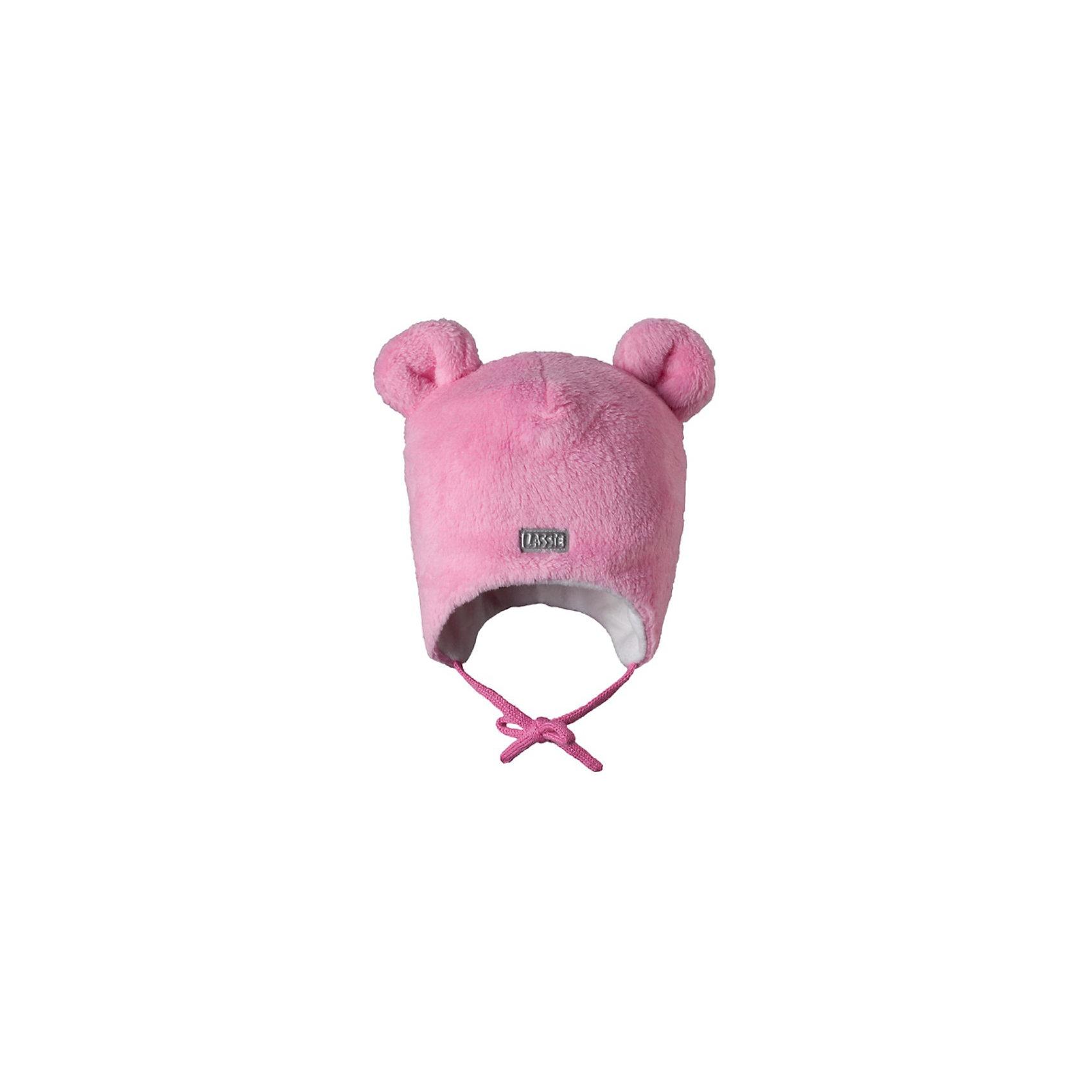 Шапка для девочки LASSIE by ReimaШапка для девочки от популярной финской марки LASSIE by Reima (Лесси от Рейма)  с симпатичными ушками.<br><br>Дополнительная информация:<br><br>- Благодаря завязкам шапка плотно сидит на голове ребенка и не сползает<br>- Cветоотражающий элемент для безопасности ребенка<br>- Ветронепроницаемые вставки в области ушей<br>- Яркий, насыщенный цвет<br>- Материал: флис,  100% полиэстер<br><br>Шапка для девочки LASSIE by Reima (Лесси от Рейма) можно купить в нашем магазине.<br><br>Ширина мм: 89<br>Глубина мм: 117<br>Высота мм: 44<br>Вес г: 155<br>Цвет: розовый<br>Возраст от месяцев: 6<br>Возраст до месяцев: 12<br>Пол: Женский<br>Возраст: Детский<br>Размер: 50-52,44-46,42-44,46-48<br>SKU: 3686112