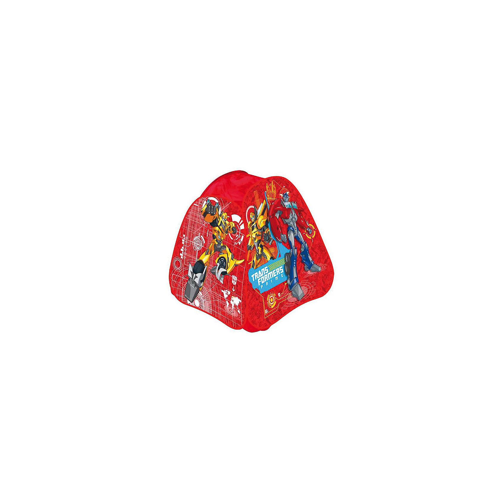 Детская игровая палатка Трансформеры, Играем ВместеПалатка игровая Transformers (Трансформеры) Играем вместе - отличный подарок для  мальчишек! Детская игровая палатка Transformers (Трансформеры) подарит Вашему ребенку множество увлекательных часов игры. Послужит отличной игрушкой как дома, так и на свежем воздухе в теплое время: варианты игры могут быть ограничены лишь фантазией ребенка. Мобильная и качественная, палатка легко складывается для хранения и транспортировки, самораскладывающийся каркас-спираль позволяет без труда собирать и разбирать ее. Окна выполнены из сетчатого материала, дверь палатки на липучке. Выполненная из прочного, влагостойкого материала, она к тому же очень легкая и компактная. В ней можно отдыхать, прятаться, защищаться от солнца и дождика!<br><br>Дополнительная информация:<br><br>- Понравится любителям мультфильма Transformers (Трансформеры);<br>- Подходит для игры в помещении и на улице в летнее время;<br>- Палатку легко собрать и разобрать;<br>- Есть окошки с сеткой для притока воздуха;<br>- Влагостойкий материал;<br>- Упакована в сумку с ручками для удобства переноски;<br>- Цвет: красный;<br>- Размер: 81 х 81 х 91 см;<br>- Вес: 1000 г<br><br>Детскую игровую палатку Трансформеры, Играем Вместе можно купить в нашем интернет-магазине.<br><br>Ширина мм: 350<br>Глубина мм: 40<br>Высота мм: 350<br>Вес г: 1000<br>Возраст от месяцев: 12<br>Возраст до месяцев: 48<br>Пол: Мужской<br>Возраст: Детский<br>SKU: 3687180