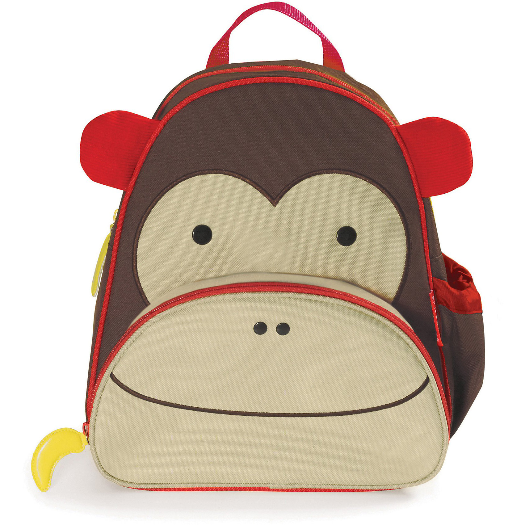 Рюкзак детский Обезьяна, Skip HopДетские рюкзаки<br>Характеристики товара:<br><br>• возраст от 3 лет;<br>• материал: полиэстер;<br>• размер рюкзака 25х29х11 см;<br>• вес рюкзака 270 гр.;<br>• страна производитель: Китай.<br><br>Рюкзак детский «Обезьяна» Skip Hop выполнен в виде забавной обезьянки с глазками и ушками. На молниях висят брелки в виде банана. Ребенок сможет брать с собой все необходимое на прогулку, в детский садик, в гости, на дачу. В основном отделении поместятся тетради, альбомы, блокноты, карандаши, фломастеры. Спереди кармашек для дополнительных мелочей, а сбоку для бутылочки с напитком или бокса для еды. <br><br>Мягкие регулируемые лямки обеспечивают комфортное ношение. Предусмотрена небольшая ручка для переноски в руках или подвешивания. Рюкзак выполнен из прочной качественной ткани. Его можно стирать в стиральной машине.<br><br>Рюкзак детский «Обезьяна» Skip Hop можно приобрести в нашем интернет-магазине.<br><br>Ширина мм: 329<br>Глубина мм: 294<br>Высота мм: 63<br>Вес г: 291<br>Цвет: коричневый<br>Возраст от месяцев: 24<br>Возраст до месяцев: 60<br>Пол: Унисекс<br>Возраст: Детский<br>SKU: 3688430