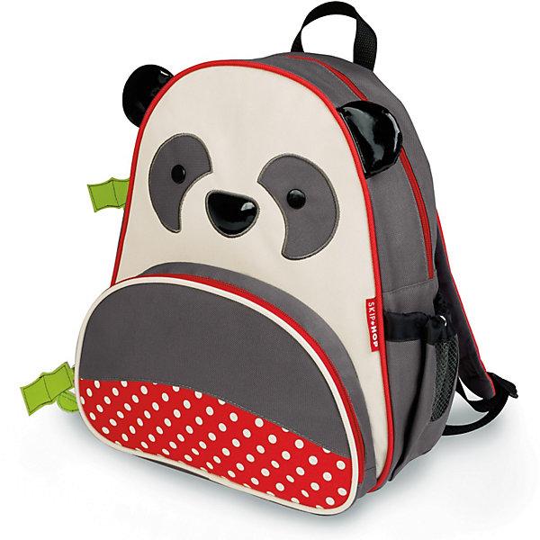 Рюкзак детский Панда, Skip HopДетские рюкзаки<br>Характеристики товара:<br><br>• возраст от 3 лет;<br>• материал: полиэстер;<br>• объем: 8 литров<br>• регулируемые лямки<br>• размер рюкзака 25х29х11 см;<br>• вес рюкзака 270 гр.;<br>• страна производитель: Китай.<br><br>Рюкзак детский «Панда» Skip Hop выполнен в виде забавной божьей коровки с глазками, рожками и передним красным карманом с черными кружочками. На молниях висят брелки в виде стебля с листьями. Ребенок сможет брать с собой все необходимое на прогулку, в детский садик, в гости, на дачу. В основном отделении поместятся тетради, альбомы, блокноты, карандаши, фломастеры. Спереди кармашек для дополнительных мелочей, а сбоку для бутылочки с напитком или бокса для еды. <br><br>Мягкие регулируемые лямки обеспечивают комфортное ношение. Предусмотрена небольшая ручка для переноски в руках или подвешивания. Рюкзак выполнен из прочной качественной ткани. Его можно стирать в стиральной машине.<br><br>Рюкзак детский «Панда» Skip Hop можно приобрести в нашем интернет-магазине.<br><br>Ширина мм: 338<br>Глубина мм: 279<br>Высота мм: 68<br>Вес г: 318<br>Цвет: серый<br>Возраст от месяцев: 24<br>Возраст до месяцев: 60<br>Пол: Унисекс<br>Возраст: Детский<br>SKU: 3688432