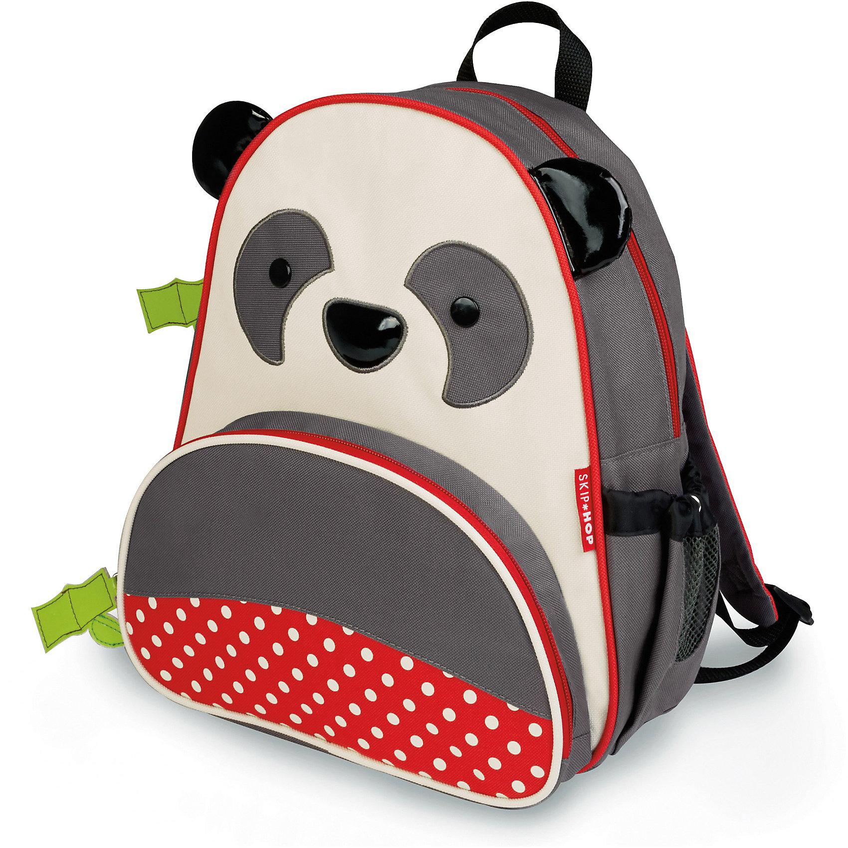 Рюкзак детский Панда, Skip HopДетские рюкзаки<br>Характеристики товара:<br><br>• возраст от 3 лет;<br>• материал: полиэстер;<br>• объем: 8 литров<br>• регулируемые лямки<br>• размер рюкзака 25х29х11 см;<br>• вес рюкзака 270 гр.;<br>• страна производитель: Китай.<br><br>Рюкзак детский «Панда» Skip Hop выполнен в виде забавной божьей коровки с глазками, рожками и передним красным карманом с черными кружочками. На молниях висят брелки в виде стебля с листьями. Ребенок сможет брать с собой все необходимое на прогулку, в детский садик, в гости, на дачу. В основном отделении поместятся тетради, альбомы, блокноты, карандаши, фломастеры. Спереди кармашек для дополнительных мелочей, а сбоку для бутылочки с напитком или бокса для еды. <br><br>Мягкие регулируемые лямки обеспечивают комфортное ношение. Предусмотрена небольшая ручка для переноски в руках или подвешивания. Рюкзак выполнен из прочной качественной ткани. Его можно стирать в стиральной машине.<br><br>Рюкзак детский «Панда» Skip Hop можно приобрести в нашем интернет-магазине.<br><br>Ширина мм: 325<br>Глубина мм: 274<br>Высота мм: 62<br>Вес г: 312<br>Цвет: серый<br>Возраст от месяцев: 24<br>Возраст до месяцев: 60<br>Пол: Унисекс<br>Возраст: Детский<br>SKU: 3688432