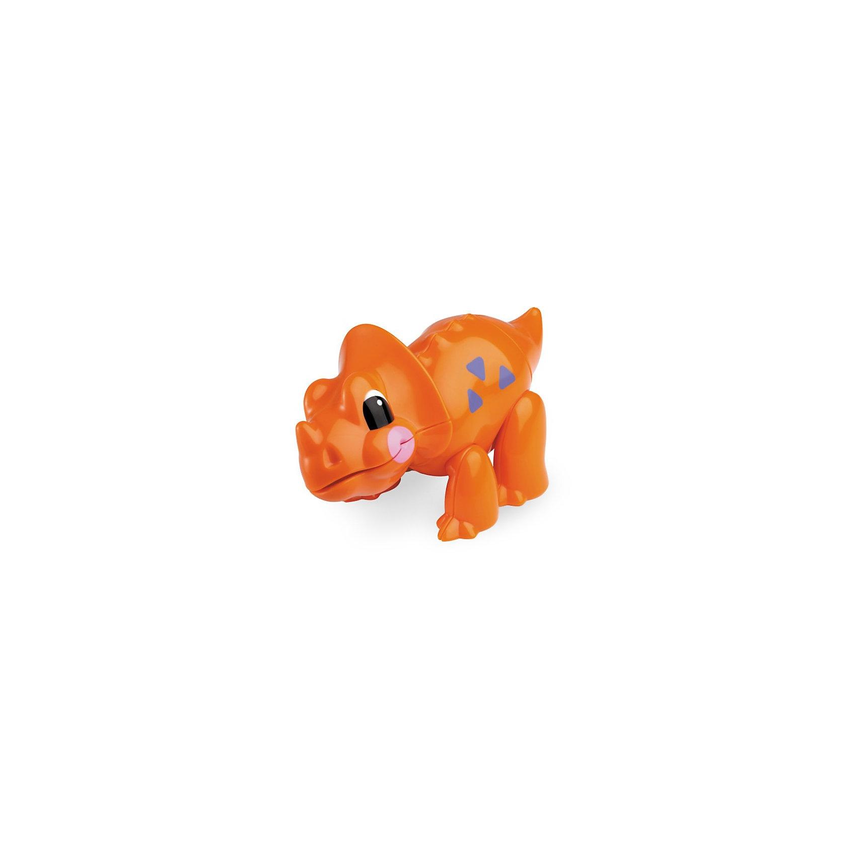 Фигурка Трицератопс, Первые друзья, TOLOДраконы и динозавры<br>Фигурка Трицератопс, Первые друзья, TOLO (ТОЛО) – эта яркая красочная игрушка привлечет внимание Вашего малыша и не позволит ему скучать.<br>Фигурка Трицератопс из серии Первые друзья, TOLO (ТОЛО) создаст малышам прекрасное настроение и познакомит их с миром доисторических динозавров. Больше всего трицератопс любит лакомиться доисторическими цветами. С веселым пощелкиванием у фигурки поворачиваются голова, хвост. Подвижные лапы позволяют задавать фигурке различные положения. Игрушка способствует развитию координации движений, моторики, распознаванию цветов и звуков, помогает формировать первые навыки сюжетно-ролевой игры. Игрушки Толо производятся из пластика самого высокого качества и гипоаллергенных красителей. Они абсолютно безопасны для малышей, не бьются, не ломаются, крепкие и прочные.<br><br>Дополнительная информация:<br><br>- Размер: 12 х 5 х 7,5 см.<br>- Материал: высококачественный пластик<br><br>Фигурка Трицератопс, Первые друзья, TOLO (ТОЛО) - обязательно понравится Вашему малышу.<br><br>Фигурку Трицератопс, Первые друзья, TOLO (ТОЛО) можно купить в нашем интернет-магазине.<br><br>Ширина мм: 120<br>Глубина мм: 50<br>Высота мм: 80<br>Вес г: 72<br>Возраст от месяцев: 12<br>Возраст до месяцев: 60<br>Пол: Унисекс<br>Возраст: Детский<br>SKU: 3689004
