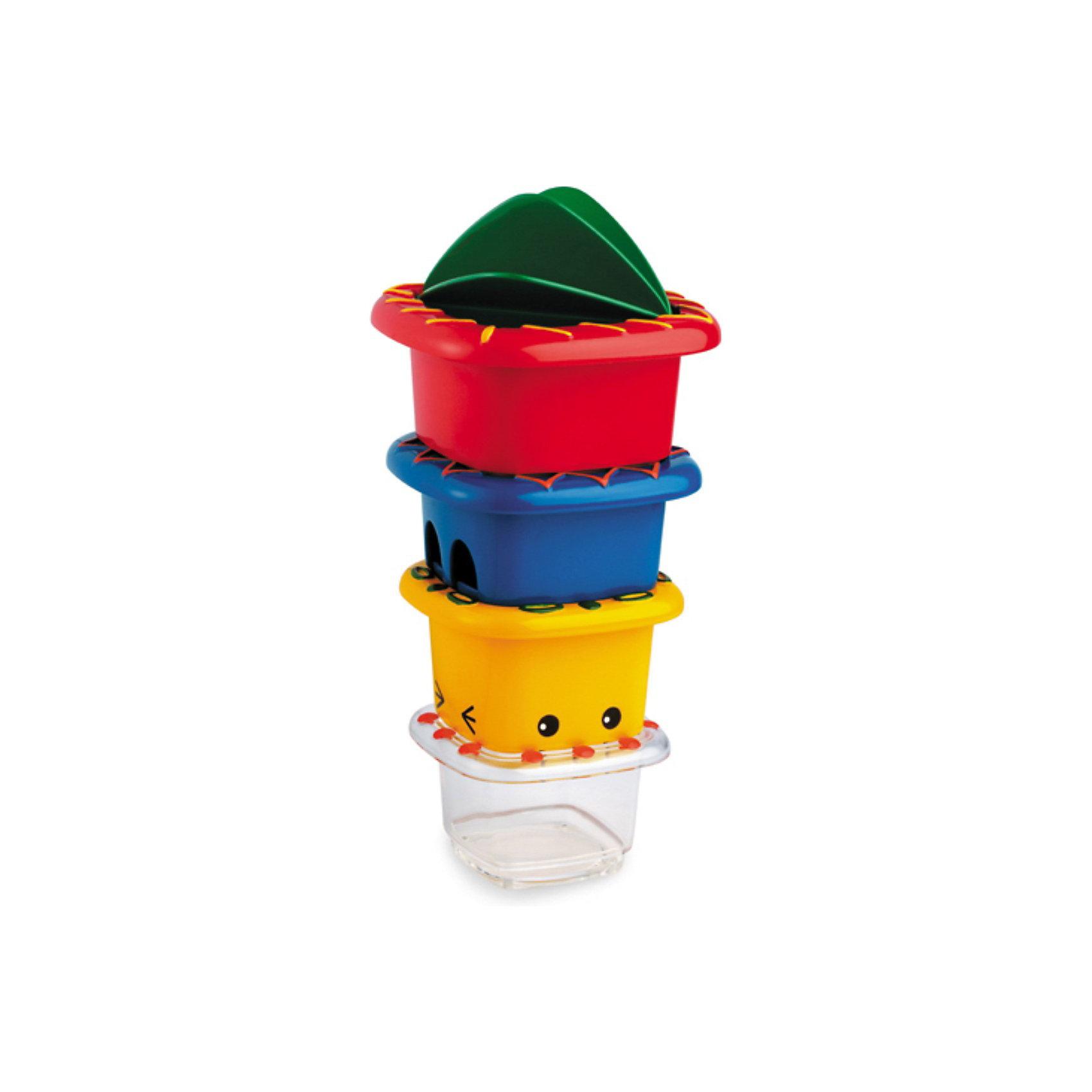 TOLO Набор ведерок, TOLO CLASSIC игрушки для ванны tolo toys набор ведерок квадратные