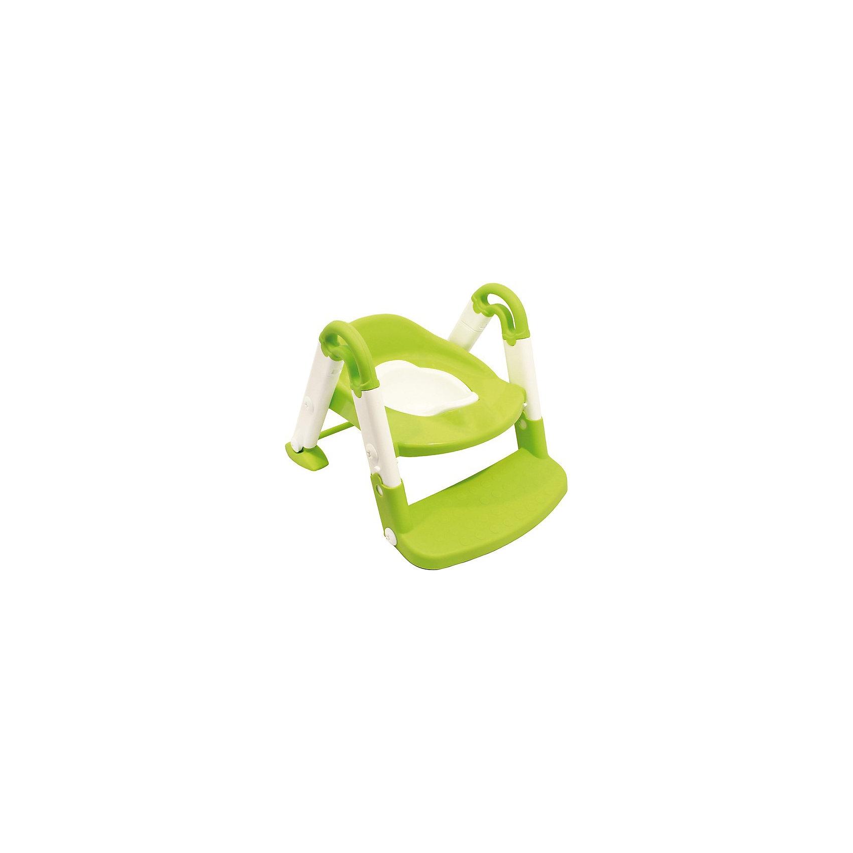 Горшок-трансформер, ROXY-KIDS, салатовыйГоршок-трансформер, ROXY-KIDS - это удобная насадка на унитаз со ступенькой для детей от 2 лет. Насадку можно использовать как для того, чтобы приучить ребенка с ранних лет пользоваться взрослым унитазом, так и в качестве обычного горшка в любом помещении.<br>С помощью этого нехитрого приспособления малыш сможет самостоятельно сходить в туалет и почувствовать себя уже взрослым, ведь это так важно для ребёнка.<br>Легко собирается и разбирается для транспортировки. Ступенька имеет противоскользящее покрытие. Горшок имеет удобные ручки, которые помогают ребенку слезть и залезть.<br>Ножка насадки также оснащена надежными антискользящими креплениями для дополнительной безопасности и устойчивости.<br><br>Дополнительная информация:<br><br>- размеры упаковки: 39,5 х 35 х 17,5 см<br>- материал: пластик<br>- вес: 1850 г.<br><br>Горшок-трансформер, ROXY-KIDS салатовый можно купить в нашем магазине.<br><br>Ширина мм: 395<br>Глубина мм: 348<br>Высота мм: 175<br>Вес г: 1850<br>Возраст от месяцев: 24<br>Возраст до месяцев: 60<br>Пол: Унисекс<br>Возраст: Детский<br>SKU: 3694569