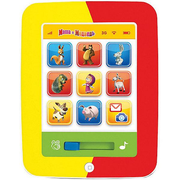Мой первый планшет, Маша и медведь, со светом и звуком, УмкаИгрушки<br>Мой первый планшет, Маша и медведь, Умка - красочная развивающая игрушка, которая надолго увлечет Вашего ребенка и будет способствовать его интеллектуальному развитию. Игрушка выполнена в ярком привлекательном дизайне в форме планшета.<br><br>В игрушке предусмотрено 7 развивающих функций. На игровой панели размещены крупные разноцветные кнопки с изображениями персонажей мультфильма - забавных зверюшек. При нажатии на кнопки ребенок услышит названия и голоса животных, а также факты о них. На планшете можно прослушать 9 стихотворений и 2 песенки из мультфильма. Имеется  автоматическое отключение, световые и звуковые эффекты.<br><br>Дополнительная информация:<br><br>- Материал: пластик, металл.<br>- Требуются батарейки: 3 х АА (входят в комплект).<br>- Размер: 22 х 17 х 3 см.<br>- Вес: 0,376 кг.<br><br>Мой первый планшет, Маша и медведь, Умка можно купить в нашем интернет-магазине.<br>Ширина мм: 220; Глубина мм: 30; Высота мм: 290; Вес г: 390; Возраст от месяцев: 6; Возраст до месяцев: 36; Пол: Унисекс; Возраст: Детский; SKU: 3702462;