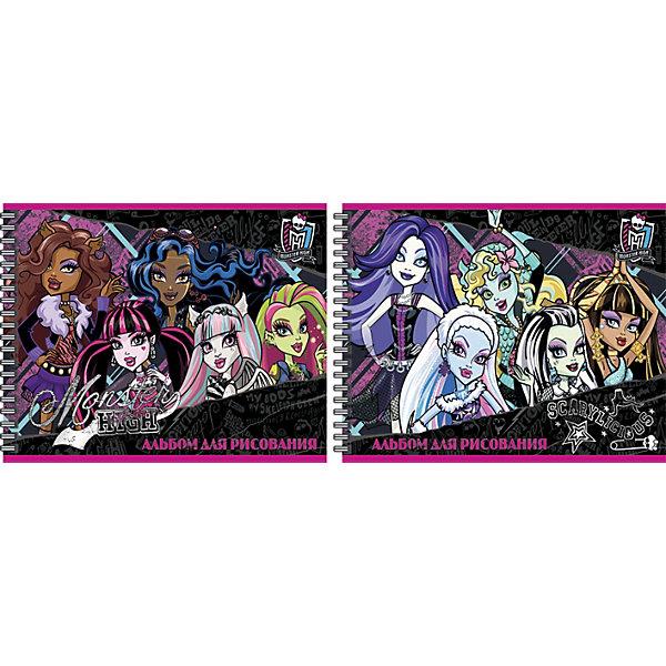 Альбом для рисования, 20 листов, Monster HighMonster High<br>Альбом для рисования, 20 листов, Monster High (Монстер Хай) - прекрасный подарок для раскрытия творческого потенциала. Рисование - это прекрасный досуг, который способствует развитию воображения,  восприятия,  мышления, логики,  мелкой моторики,  усидчивости и понимания формы и цветов.<br><br><br>Дополнительная информация:<br><br>- Количество листов: 20<br>- Вес: 179 г.<br>- Серия: Monster High (Школа Монстров)<br>- Размеры: 205 х 290 х 4 мм<br><br>Альбом для рисования, 20 листов, Monster High (Монстр Хай) можно купить в нашем магазине.<br>Ширина мм: 205; Глубина мм: 290; Высота мм: 4; Вес г: 179; Возраст от месяцев: 120; Возраст до месяцев: 144; Пол: Женский; Возраст: Детский; SKU: 3702882;