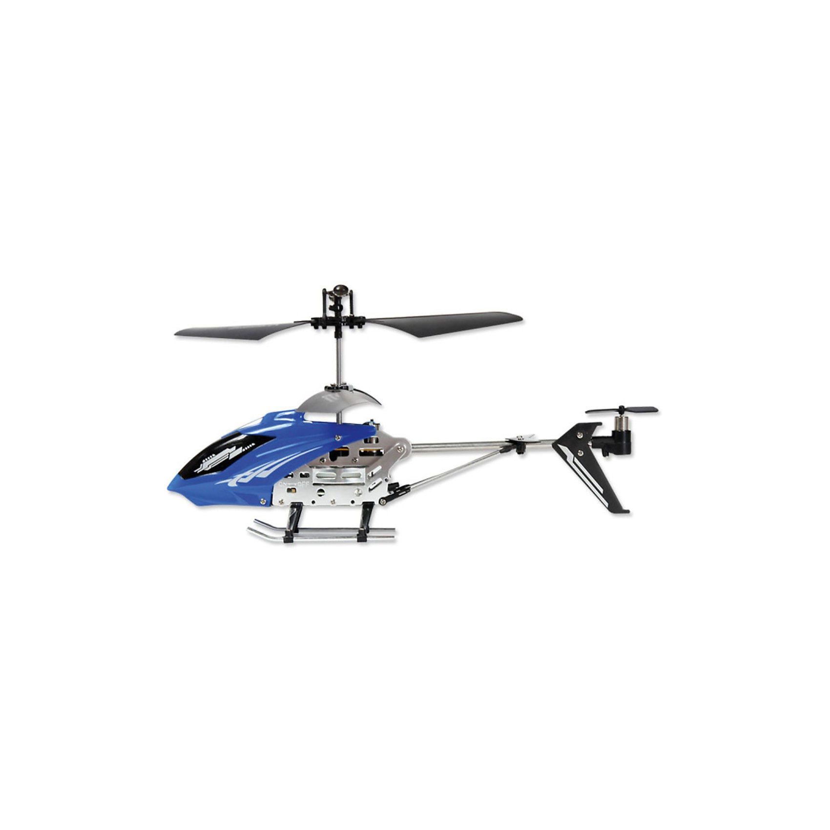 Вертолет IR-107,  синий, на и/к управлении, Mioshi TechРадиоуправляемый вертолет Mioshi IR-107 оснащен гироскопом и 3-хканальной системой управления, благодаря чему модель стабильна в управлении. Движения вертолета плавные, без вращения на взлете. Наличие встроенного гироскопа делает полет сбалансированным и не позволяет сбиться с намеченного курса. Такие вертолеты относятся к усовершенствованным радиоуправляемым игрушкам, пилотировать которые могут даже дети.<br>За счет небольшого веса (всего 40 г) и легкой металлической конструкции вертолет не получает серьезных повреждений, которые возможны при первых запусках.<br>В воздухе могут одновременно парить несколько вертолетов., что возможно благодаря разным каналам, которые соединяют вертолет и пульт.<br> <br>Дополнительная информация:<br><br>- Время полета: 6,5 – 7,5 мин на расстоянии до 10 м<br>- Максимальная скорость: 10 км/ч.<br>- Время зарядки: 48-51 мин<br>- Батарея: 3.7V 180mAh <br>- Зарядка от USB-порта, зарядный кабель в комплекте<br>- Возможность зарядки от пульта дистанционного управления<br>- Питание пульта ДУ: 6 батареек типа AA (приобретаются отдельно)<br>- Размеры вертолета: 220 x 38 x 98 мм.<br>- Диаметр несущего винта: 187 мм.<br>- Размеры упаковки: 510 х 190 х 85 мм.<br>- Вес упаковки: 720 г.<br>- Комплект поставки: собранный, полностью готовый к полету вертолет, инфракрасный пульт ДУ, кабель USB для зарядки, два запасных хвостовых винта, четыре запасные лопасти, два запасных крепления стабилизатора, набор шестеренок, инструкция<br>- Материал: высококачественный пластик, металл<br><br>Вертолет IR-107,  синий, на и/к управлении, Mioshi Tech  можно купить в нашем магазине.<br><br>Ширина мм: 510<br>Глубина мм: 190<br>Высота мм: 85<br>Вес г: 722<br>Возраст от месяцев: 72<br>Возраст до месяцев: 1188<br>Пол: Мужской<br>Возраст: Детский<br>SKU: 3703438