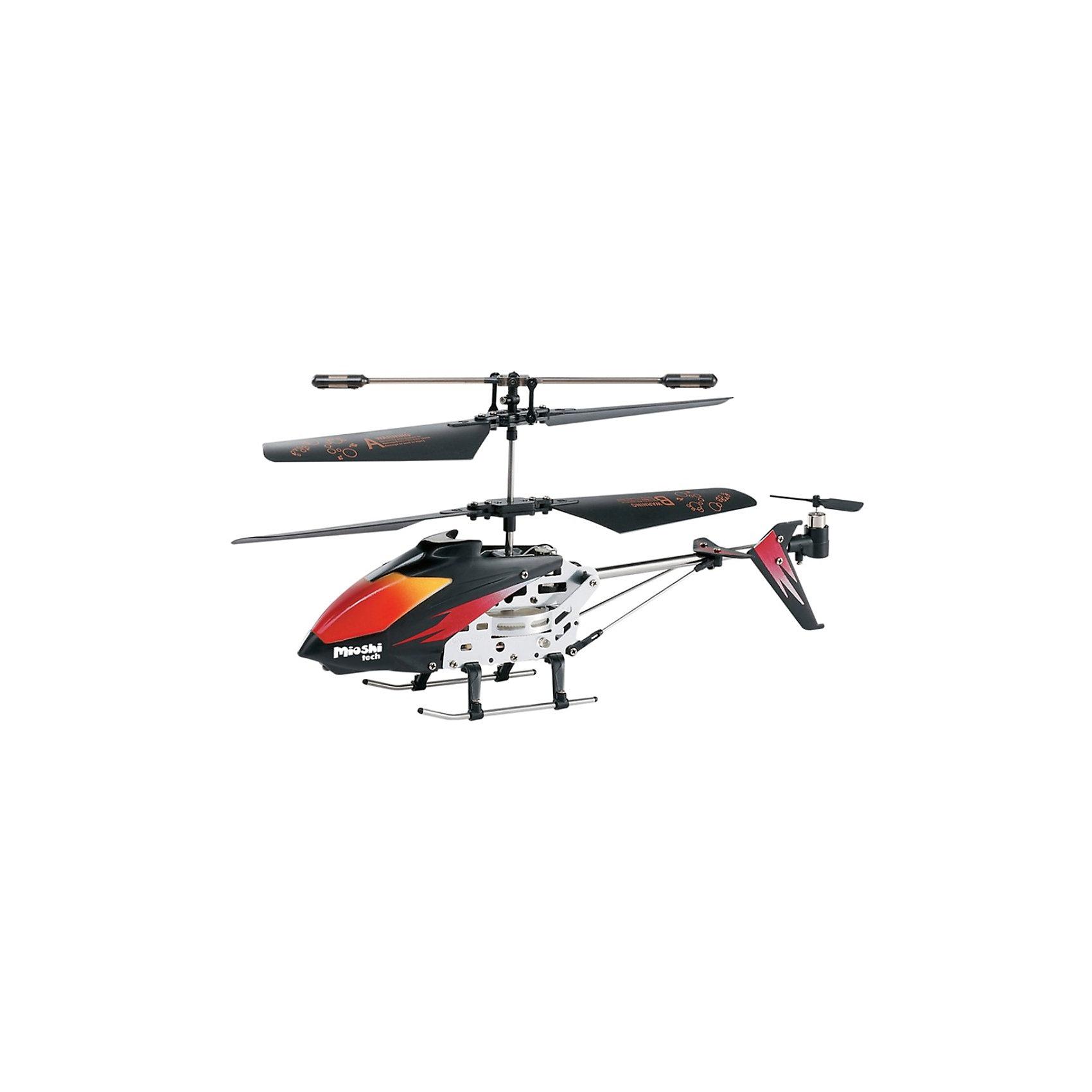 Вертолет Mercury, на и/к управлении, Mioshi TechРадиоуправляемый вертолёт Mioshi Tech Mercury понравится не только детям, но и взрослым. Встроенный гироскоп сделает ваш полёт увереннее и управление проще, а яркая подсветка корпуса обеспечит зрелищное шоу! Выполняйте разнообразные трюки и покоряйте новые высоты, позовите друзей и поразите их своим мастерским полётом! В комплекте идёт запасной хвостовой винт и отвёртка, так что небольшая поломка не выведет вас из строя.<br> <br>Дополнительная информация:<br><br>- В комплекте: собранный, полностью готовый к полету вертолет, инфракрасный пульт ДУ, запасной хвостовой винт, инструкция, отвертка<br>- LED (светодиодная) подсветка корпуса<br>- 3,5 канала<br>- Направления полета: вперед, назад, взлет, посадка, повороты направо/налево/вращение против часовой стрелки<br>- Гироскоп<br>- Питание устройства: аккумулятор с зарядкой от пульта ДУ<br>- Питание пульта ДУ: 6 батареек типа AA (приобретаются отдельно)<br>- Радиус действия: до 10 м.<br>- Время работы от аккумулятора: 5 - 6 мин.<br>- Время зарядки: 60 минут<br>- Максимальная скорость: 10 км/ч.<br>- Размеры вертолета: 37 x 105 x 230 мм.<br>- Диаметр несущего винта: 175 мм.<br>- Размеры упаковки: 460 х 80 х 160 мм.<br>- Вес: 517 г.<br>- Материал: высококачественный пластик, металл<br><br>Вертолет Mercury, на и/к управлении, Mioshi Tech  можно купить в нашем магазине.<br><br>Ширина мм: 460<br>Глубина мм: 80<br>Высота мм: 160<br>Вес г: 517<br>Возраст от месяцев: 72<br>Возраст до месяцев: 1188<br>Пол: Мужской<br>Возраст: Детский<br>SKU: 3703440
