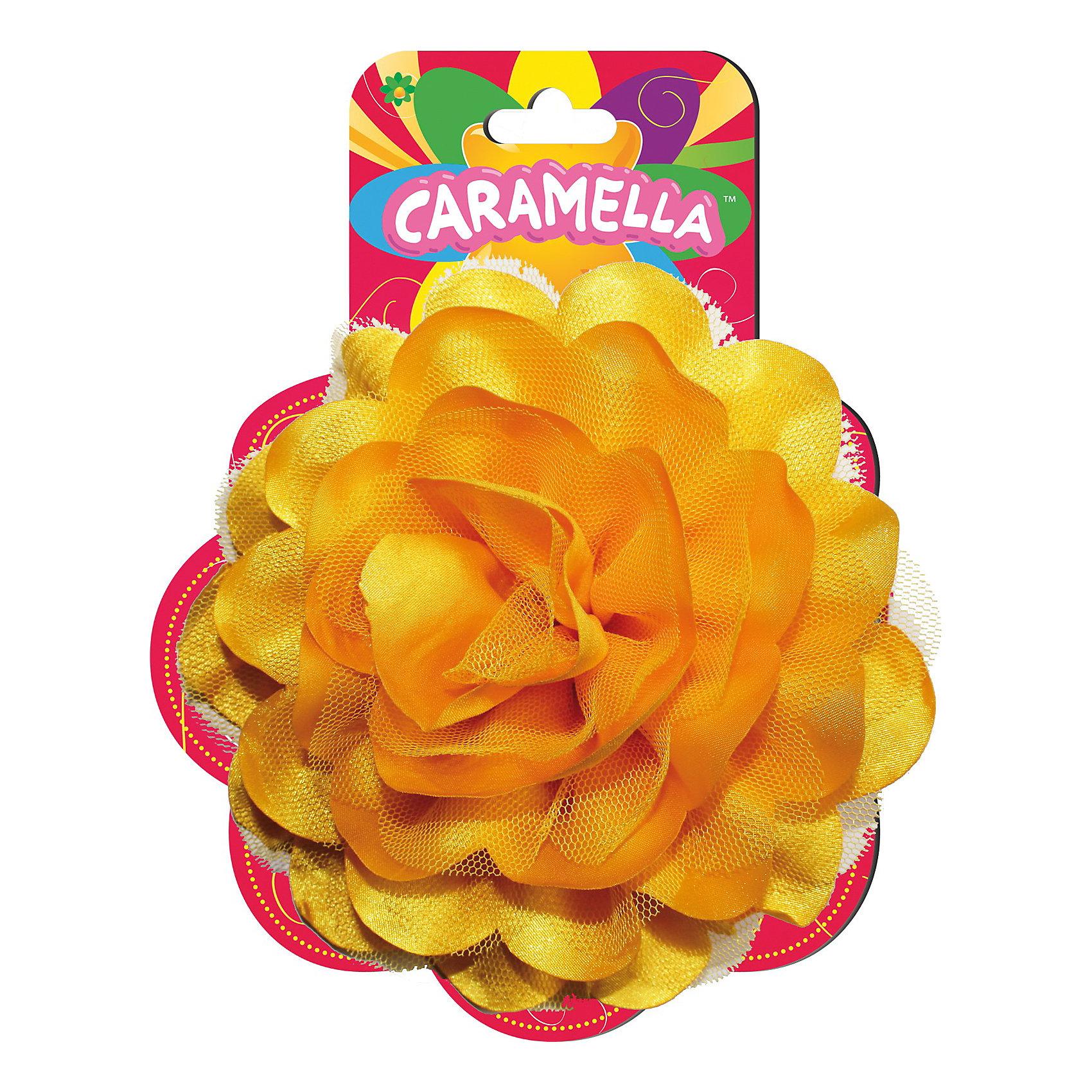 Резинка для волос Желтая роза