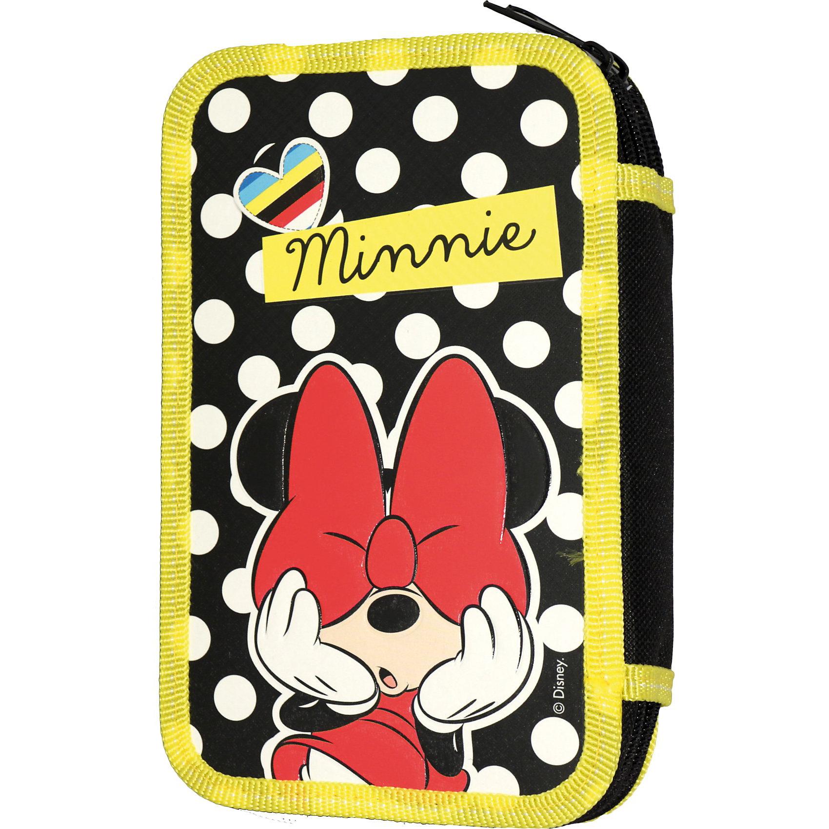 Пенал 2-секционный Pop art, Минни МаусПенал 2-секционный Pop art, Минни Маус  (Minnie Mouse) – этот пенал непременно понравится любой девочке, поклоннице Минни Маус.<br>Вот уже несколько поколений выросло на мультфильмах с очаровательной Минни Маус. Она по праву считается первой леди Disney: ее безукоризненный стиль и прекрасные манеры восхищают девочек по всему миру. Поэтому пенал «Pop art» понравится любой моднице. В его объемные два отделения на молнии поместятся все необходимые канцелярские принадлежности, а специальные петельки из резинки надежно зафиксируют ручки и карандаши, маркеры и ластик, точилку и другие предметы. Изделие изготовлено из ламинированного картона с эффектом конгрева (с выпуклым изображением) и полиэстера. Пенал декорирован ярким принтом снаружи и черно-белым - внутри.<br><br>Дополнительная информация:<br><br>- Размеры: 19,5 х 12,5 х 4 см.<br>- Вес: 150 гр.<br><br>Пенал 2-секционный Pop art, Минни Маус можно купить в нашем магазине.<br><br>Ширина мм: 195<br>Глубина мм: 125<br>Высота мм: 40<br>Вес г: 150<br>Возраст от месяцев: 60<br>Возраст до месяцев: 144<br>Пол: Женский<br>Возраст: Детский<br>SKU: 3705351