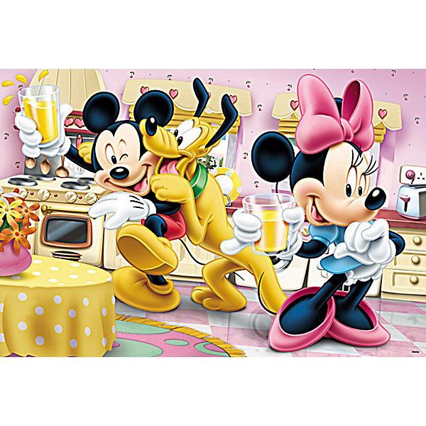 Пазлы Trefl Интересный день, 160 элементовПазлы для детей постарше<br>Микки Мауса и его друзей ждет действительно интересный день, именно так называется этот красочный, веселый пазл по мотивам известной серии Дисней. В жаркий летний день, друзья собрались на кухне Минни попить лимонада и просто повеселиться. Озорной Плуто, как обычно, не дает покоя Микки, ну а Минни предлагает детишкам выпить прохладной шипучки. Относительно небольшое количество пазлов и яркие, четкие детали рисунка позволят ребенку легко и с удовольствием собрать эту композицию, а всеми любимые персонажи позволят погрузиться в этот волшебный мир фабрики грез Дисней.  Детали пазла выполнены из прочного картона с антибликовым покрытием.  <br>Изображение состоит из 160 элементов. <br>Рекомендуемый возраст от 5 лет.<br><br>Ширина мм: 287<br>Глубина мм: 195<br>Высота мм: 43<br>Вес г: 307<br>Возраст от месяцев: 84<br>Возраст до месяцев: 108<br>Пол: Унисекс<br>Возраст: Детский<br>Количество деталей: 160<br>SKU: 3705630