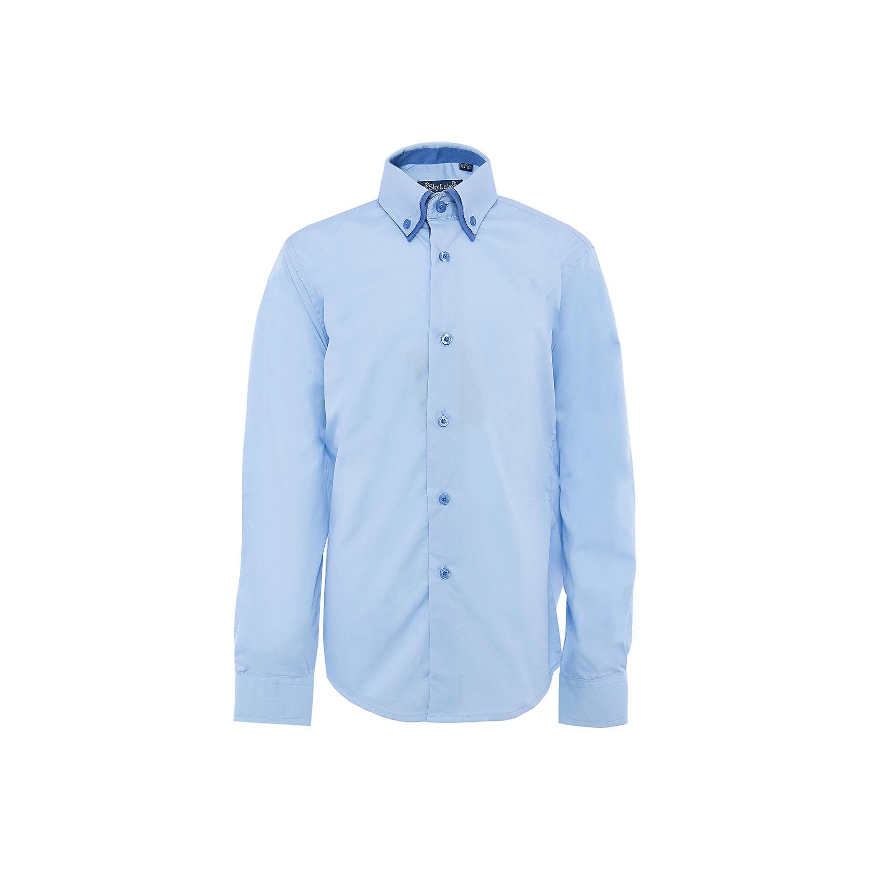 Рубашка для мальчика SkylakeБлузки и рубашки<br>Сорочка классическая для мальчика<br>Состав:<br>80% хлопок, 20% п/э<br><br>Ширина мм: 174<br>Глубина мм: 10<br>Высота мм: 169<br>Вес г: 157<br>Цвет: голубой<br>Возраст от месяцев: 72<br>Возраст до месяцев: 84<br>Пол: Мужской<br>Возраст: Детский<br>Размер: 122,152,140,134,128,146,158<br>SKU: 3708461