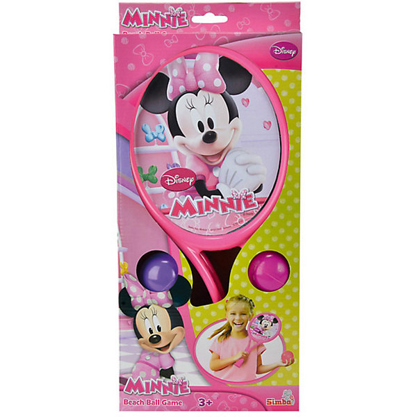 Набор ракеток Минни Маус, SimbaБадминтон и теннис<br>Набор ракеток Минни Маус, Simba (Симба) станет приятным сюрпризом для Вашей девочки. Ракетки выполнены в приятной розовой расцветке и украшены изображениями диснеевской героини - мышки Минни Маус (Minnie Mouse). Удобные рукоятки идеально подходят для детской ручки. В комплекте также 2 мячика: розовый и сиреневый. Игра с ракетками развивает ловкость, реакцию, моторику рук и сноровку.<br><br>Дополнительная информация:<br><br>- В комплекте: 2 ракетки, 2 мячика.<br>- Материал: высококачественная пластмасса.<br>- Длина ракетки: 39 см.<br>- Размер упаковки: 19,5 х 4 х 40 см.<br>- Вес с упаковкой: 0,5 кг.<br><br>Набор ракеток Минни Маус, Simba (Симба) можно купить в нашем интернет-магазине.<br><br>Ширина мм: 390<br>Глубина мм: 40<br>Высота мм: 430<br>Вес г: 800<br>Возраст от месяцев: 36<br>Возраст до месяцев: 1188<br>Пол: Женский<br>Возраст: Детский<br>SKU: 3709517