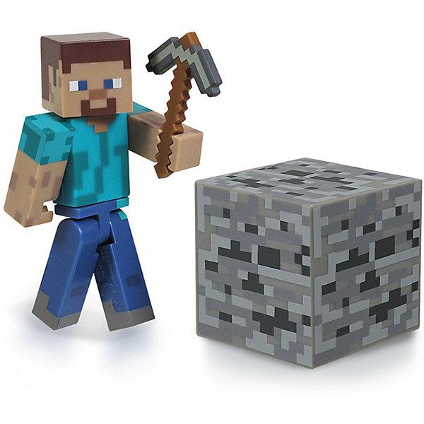 Фигурка Стив, 8см, MinecraftКоллекционные и игровые фигурки<br>Игрок Steve, с аксессуарами, 8 см, Minecraft (Майнкрафт) - фигурка из виртуального мира Minecraft. Игрушка изображает игрока Стиви, который выглядит точно так же, как и в компьютерной игре. Фигурка выполнена из высококачественного материала. В комплекте  с  игрушкой- кирка, главный инструмент копателя и блок- кубик. Собери всех участников игры и создай свой мир Minecraft.<br><br>Дополнительная информация:<br><br>- Цвет: синий, голубой, коричневый, серый<br>- Высота: 8 см<br>- Материал: пластик<br>- Подвижные руки, ноги и голова<br>- Комплектация: фигурка, кирка, блок-кубик<br><br>Игрока Steve, с аксессуарами, 8 см, Minecraft (Майнкрафт)  можно купить в нашем магазине.<br><br>Ширина мм: 183<br>Глубина мм: 146<br>Высота мм: 53<br>Вес г: 74<br>Возраст от месяцев: 72<br>Возраст до месяцев: 120<br>Пол: Мужской<br>Возраст: Детский<br>SKU: 3712315