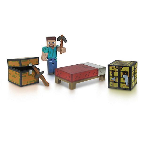 Фигурка с набором для выживания, 8 см, MinecraftКоллекционные и игровые фигурки<br>Фигурка с набором для выживания, 8 см, Minecraft (Майнкрафт) – это игровой набор, выполненный по мотивам культовой игры Майнкрафт.<br>Набор включает в себя фигурку всем известного Стива – персонажа игры Minecraft, а также некоторые самые типичные для этого персонажа аксессуары, помогающие ему выжить в блочном пиксельном мире Minecraft. В наборе меч, кирка, сундук и дополнительные инвентарные блоки, такие как верстак и кровать. Руки и ноги у Стива подвижные, а кирку и меч он может взять в руки. Этот набор превосходно подойдет в качестве подарка ребенку или фанату игры Minecraft. В процессе игры ребенок будет выдумывать различные сюжеты, развивая свое воображение.<br><br>Дополнительная информация:<br><br>- В комплекте: фигурка Стива, меч, кирку, сундук, верстак, кровать<br>- Материал: высококачественный пластик<br>- Размер: 8 см.<br>- Размер упаковки: 14,5 х 17,5 х 5 см.<br><br>Фигурку с набором для выживания, 8 см, Minecraft (Майнкрафт) можно купить в нашем интернет-магазине.<br><br>Ширина мм: 235<br>Глубина мм: 208<br>Высота мм: 50<br>Вес г: 129<br>Возраст от месяцев: 72<br>Возраст до месяцев: 120<br>Пол: Мужской<br>Возраст: Детский<br>SKU: 3712318