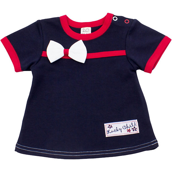 Футболка для девочки Lucky ChildФутболки, топы<br>Футболка для девочки Lucky Child<br>Неповторимое достоинство одежды от Lucky Child заключается в универсальной роскоши вещей. Одну и ту же вещь можно надеть на торжественное мероприятие и для прогулки на улице. Футболка – полезная вещь в гардеробе каждого модника, она отлично сочетается со штанишками, юбочками или шортиками. Комплект нарядов ограничивается только вашей фантазией!<br>Состав : 100% хлопок<br><br>Ширина мм: 199<br>Глубина мм: 10<br>Высота мм: 161<br>Вес г: 151<br>Цвет: синий<br>Возраст от месяцев: 6<br>Возраст до месяцев: 9<br>Пол: Женский<br>Возраст: Детский<br>Размер: 68/74,92/98,62/68,74/80,86/92,98/104,80/86<br>SKU: 3713377