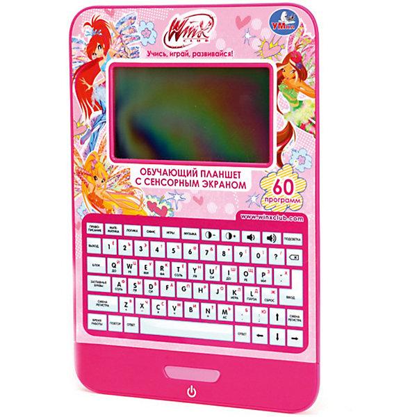 Обучающий планшет Winx Club, 60 программ, УмкаИгрушки<br>Обучающий планшет Winx (Винкс), 60 программ, Умка – это отличная развивающая игрушка для вашего ребенка.<br>С помощью этого замечательного планшета ваш ребенок выучит буквы, цифры, новые слова и ноты. Ребенок может обучаться как на русском, так и на английском языке. 5 режимов игры помогут малышу получить знания именно в той области, которая ему интересна – правописание, математика, музыка, логика. Планшет содержит 60 обучающих программ: 9 программ в категории правописание, 8 программ в категории математика, 8 программ в категории логика и память, 3 программы в категории офисные инструменты, 12 программ в категории музыка и игры. Режим вопросов поможет закрепить полученные знания.<br>Игрушка оснащена большим сенсорным ЖК-экраном высокого разрешения, имеет регулировку громкости, автоматическое отключение, озвучена профессиональными актерами. Раскладка клавиатуры планшета приближена к настоящей. Игрушка способствует развитию самостоятельности, памяти, логики, математических способностей и пополнению словарного запаса.<br><br>Дополнительная информация:<br><br>- Количество обучающих программ: 60<br>- Анимация с героями мультсериала Winx (Винкс)<br>- Батарейки: 3 батарейки типа ААА (батарейки входят в комплект)<br>- Материал: пластик<br>- Размер планшета: 16,5 х 23,5 х 2 см.<br>- Размер упаковки: 32 х 23,5 х 3,5 см.<br>- Вес: 630 гр.<br><br>Обучающий планшет Winx (Клуб Винкс: Школа Волшебниц), 60 программ, Умка можно купить в нашем интернет-магазине.<br><br>Ширина мм: 240<br>Глубина мм: 320<br>Высота мм: 40<br>Вес г: 630<br>Возраст от месяцев: 24<br>Возраст до месяцев: 60<br>Пол: Женский<br>Возраст: Детский<br>SKU: 3714279
