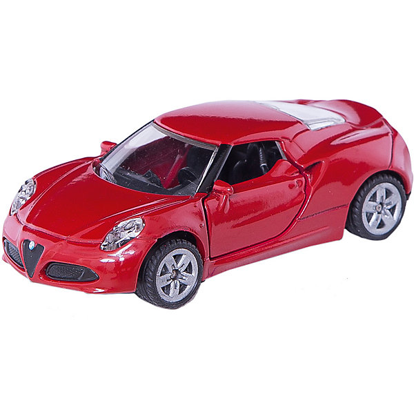 SIKU 1451 Альфа Ромео 4cМашинки<br>Машина Альфа Ромео 4c, Siku, станет замечательным подарком для автолюбителей всех возрастов. Модель представляет из себя реалистичную копию популярного спорткара Альфа Ромео 4c и отличается высокой степенью детализации и тщательной проработкой всех элементов. Стильная машинка ярко-красного цвета оснащена прозрачными лобовыми стеклами, в салоне можно увидеть сиденья и руль, двери открываются, спереди и сзади пластиковые фары. Колеса вращаются, широкие шины оборудованы спортивными колесными дисками. Корпус модели обтекаемой формы выполнен из металла, детали изготовлены из ударопрочной пластмассы.<br><br>Дополнительная информация:<br><br>- Материал: металл, пластик.<br>- Масштаб: 1:55.<br>- Размер машинки: 7,8 x 9,7 x 3,8 см.<br>- Вес: 59 гр.<br><br>1451 Альфа Ромео 4c, Siku, можно купить в нашем интернет-магазине.<br><br>Ширина мм: 96<br>Глубина мм: 78<br>Высота мм: 40<br>Вес г: 59<br>Возраст от месяцев: 36<br>Возраст до месяцев: 96<br>Пол: Мужской<br>Возраст: Детский<br>SKU: 3716514