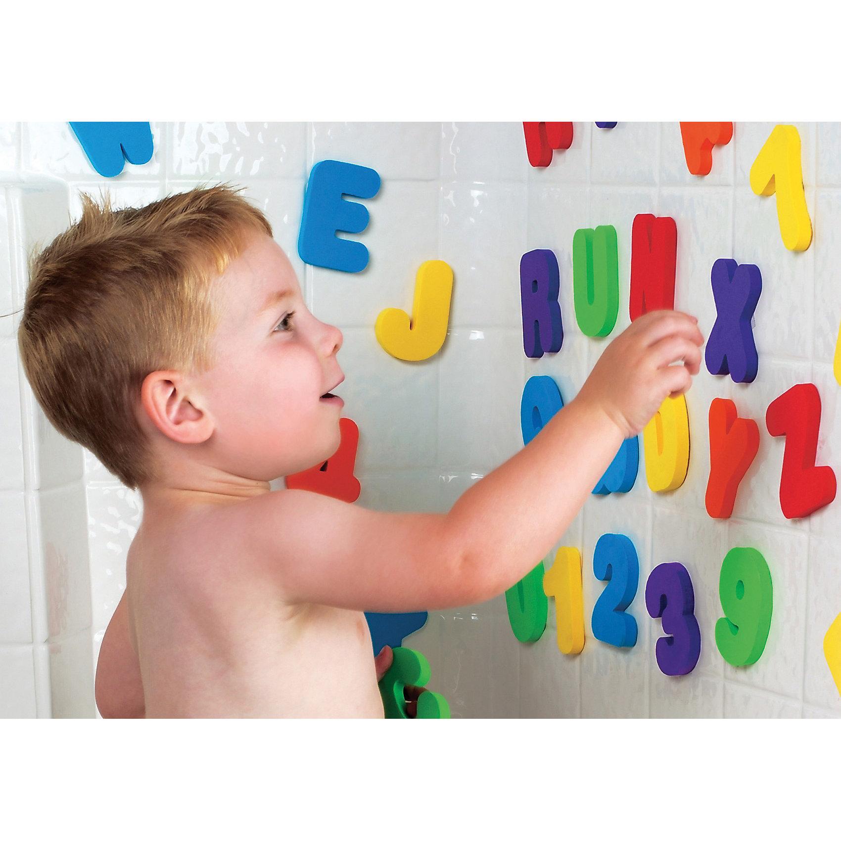 Игрушка для ванной Буквы и Цифры от 24мес, MunchkinИгрушки для ванной<br>Дети любят учиться везде ... так почему бы не в ванной? ·Плавающие разноцветные буквы и цифры обеспечивают безграничные возможности для увлекательной игры, во время которой запоминание букв и цифр происходит незаметно и без усилий. Когда буквы и цифры влажные, их можно прилепить на стену ванной, чтобы составлять из них различные слова и числа.<br>Буквы и цифры изготовлены из легкой, мягкой и прочной нетоксичной пены. Ими можно играть, бросать в воду, складывать - все, что угодно!<br><br>Дополнительная информация:&#13;<br>&#13;<br>- материал: пена&#13;<br>- размеры: 8 х 5,5 х 1 см&#13;<br>- в комплекте: 26 букв, 10 чисел&#13;<br><br>Игрушку для ванной Буквы и Цифры от 24мес, Munchkin можно купить в нашем магазине.<br><br>Ширина мм: 56<br>Глубина мм: 200<br>Высота мм: 254<br>Вес г: 294<br>Возраст от месяцев: 12<br>Возраст до месяцев: 48<br>Пол: Унисекс<br>Возраст: Детский<br>SKU: 3717330