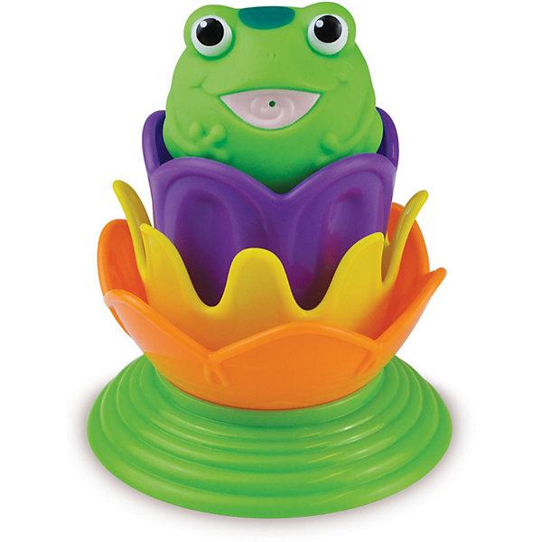 Игрушка для ванной Лягушка принцесса от 18мес., MunchkinИгрушки для купания<br>Игрушка для купания MUNCHKIN Лягушка принцесса приведет в восторг каждого малыша. При погружении игрушки в теплую воду на трех лилиях-ситечках проявляются тайные изображения морских животных при погружении в теплую воду. А игрушка-брызгалка в виде лягушки превратится в принцессу, как только на ее голове появится корона.<br>Волшебные превращения не только развивают воображение, но и являются прекрасным способом развития понимания причинно-слественных связей.<br>Игрушка позволяет производить различные действия с водой - процеживать, брызгаться и т.д. - чистое удовольствие для ребенка в ванной. Все, чтобы сделать время, проведенное в ванной, волшебным. <br>Еще одна игровая функция лягушки-принцессы - пирамидка, котораяскладывается из красочных деталей. Располагая предметы в правильном порядке, ребенок получает представление о размере, форме и цвете.<br><br>Дополнительная информация:<br><br>- под воздействием теплой воды проявляются волшебные рисунки<br>- цвета возвращаются к первоначальным, когда игрушка высыхает<br>- сразу два персонажа в одной игрушке: лягушка и лягушка-принцесса<br>- материал: пластик<br>- размеры: 10 х 10 х 12,5 см<br><br>Игрушку для ванной Лягушка принцесса от 18мес., Munchkin можно купить в нашем магазине.<br><br>Ширина мм: 177<br>Глубина мм: 140<br>Высота мм: 100<br>Вес г: 125<br>Возраст от месяцев: 12<br>Возраст до месяцев: 48<br>Пол: Женский<br>Возраст: Детский<br>SKU: 3717334