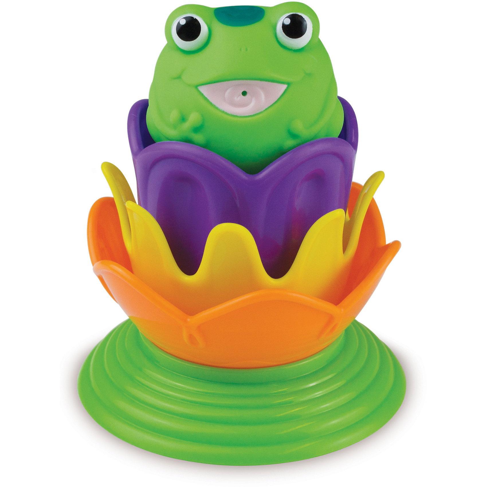 Игрушка для ванной Лягушка принцесса от 18мес., MunchkinИгрушка для купания MUNCHKIN Лягушка принцесса приведет в восторг каждого малыша. При погружении игрушки в теплую воду на трех лилиях-ситечках проявляются тайные изображения морских животных при погружении в теплую воду. А игрушка-брызгалка в виде лягушки превратится в принцессу, как только на ее голове появится корона.<br>Волшебные превращения не только развивают воображение, но и являются прекрасным способом развития понимания причинно-слественных связей.<br>Игрушка позволяет производить различные действия с водой - процеживать, брызгаться и т.д. - чистое удовольствие для ребенка в ванной. Все, чтобы сделать время, проведенное в ванной, волшебным. <br>Еще одна игровая функция лягушки-принцессы - пирамидка, котораяскладывается из красочных деталей. Располагая предметы в правильном порядке, ребенок получает представление о размере, форме и цвете.<br><br>Дополнительная информация:&#13;<br>&#13;<br>- под воздействием теплой воды проявляются волшебные рисунки<br>- цвета возвращаются к первоначальным, когда игрушка высыхает<br>- сразу два персонажа в одной игрушке: лягушка и лягушка-принцесса<br>- материал: пластик&#13;<br>- размеры: 10 х 10 х 12,5 см&#13;<br><br>Игрушку для ванной Лягушка принцесса от 18мес., Munchkin можно купить в нашем магазине.<br><br>Ширина мм: 177<br>Глубина мм: 140<br>Высота мм: 100<br>Вес г: 125<br>Возраст от месяцев: 12<br>Возраст до месяцев: 48<br>Пол: Женский<br>Возраст: Детский<br>SKU: 3717334