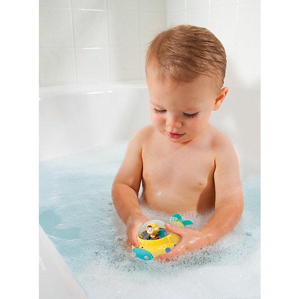 Игрушка для ванной Подводная лодка от 12мес., MunchkinДинамические игрушки<br>Эта игрушка - превосходный способ отправиться в подводное путешествие в открытое море прямо из ванной. <br>Заводная игрушка для купания Подводная лодка MUNCHKIN погружается в воду и забавно плавает с помощью винта как настоящая подводная лодка. Игрушка обязательно понравится малышам, потому что подводное путешествие - мечта каждого ребенка.Маленькие путешественники могут совершать погружения и плыть под водой в сопровождении реалистичных пузырьков воздуха. Отверстия при погружении создают воздушные пузырьки, а вращающийся винт и моряк-подводник в кабине еще больше усиливают реалистический эффект. <br>Эта креативная игрушка отлично подходит и для совсем маленьких, помогая им развивать мелкую моторику, и детям постарше, которые смогут дать волю воображению и отправиться в кругосветное подводное плавание. <br><br>Дополнительная информация:<br><br>- материал: пластик<br>- размеры: 7 х 11,5 х 7 см<br>- желтая субмарина выпускает пузырьки воздуха во время погружения <br>- кабина-погремушка вращается, развлекая ребенка<br>- игрушка легкая и отлично подходит для маленьких детских рук <br>- помогает развивать мелкую моторику<br><br>Игрушку для ванной Подводная лодка от 12мес., Munchkin можно купить в нашем магазине.<br>Ширина мм: 70; Глубина мм: 115; Высота мм: 130; Вес г: 101; Возраст от месяцев: 12; Возраст до месяцев: 48; Пол: Унисекс; Возраст: Детский; SKU: 3717335;