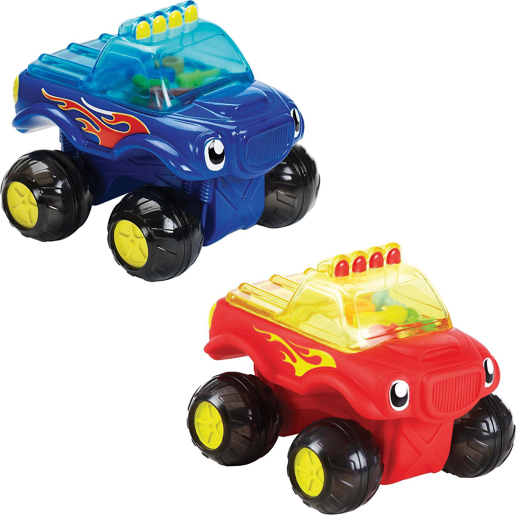 Игрушка для ванной машинка  на колёсиках от 18мес., Munchkin, в ассортиментеС машинками можно играть не только на суше, но и во время купания, потому что эта машина-монстр ездит на колесах и плавает в воде!Идеальный размер для маленьких ручек и большого воображения. В кабине грузовика множество цветных инструментов, которые гремят во время движения машины, их хорошо видно через прозрачное окно. <br><br>Дополнительная информация:&#13;<br>&#13;<br>- Monster Truck катится по земле и плавает в воде <br>-разноцветные инструменты гремят в прозрачной пластиковой кабине для удовольствия малыша, а также слуховой и визуальной стимуляции <br>- два варианта дизайна<br>- материал: пластик&#13;<br>- размеры: 11 х 14,5 х 9 см&#13;<br><br>ВНИМАНИЕ! Данный артикул представлен в разных цветовых исполнениях (в красном и синем цвете). К сожалению, заранее выбрать определенный цвет невозможно. При заказе нескольких игрушек возможно получение одинаковых.<br><br>Игрушку для ванной машинка  на колёсиках от 18мес., Munchkin можно купить в нашем магазине.<br><br>Ширина мм: 100<br>Глубина мм: 119<br>Высота мм: 150<br>Вес г: 177<br>Возраст от месяцев: 12<br>Возраст до месяцев: 48<br>Пол: Мужской<br>Возраст: Детский<br>SKU: 3717343
