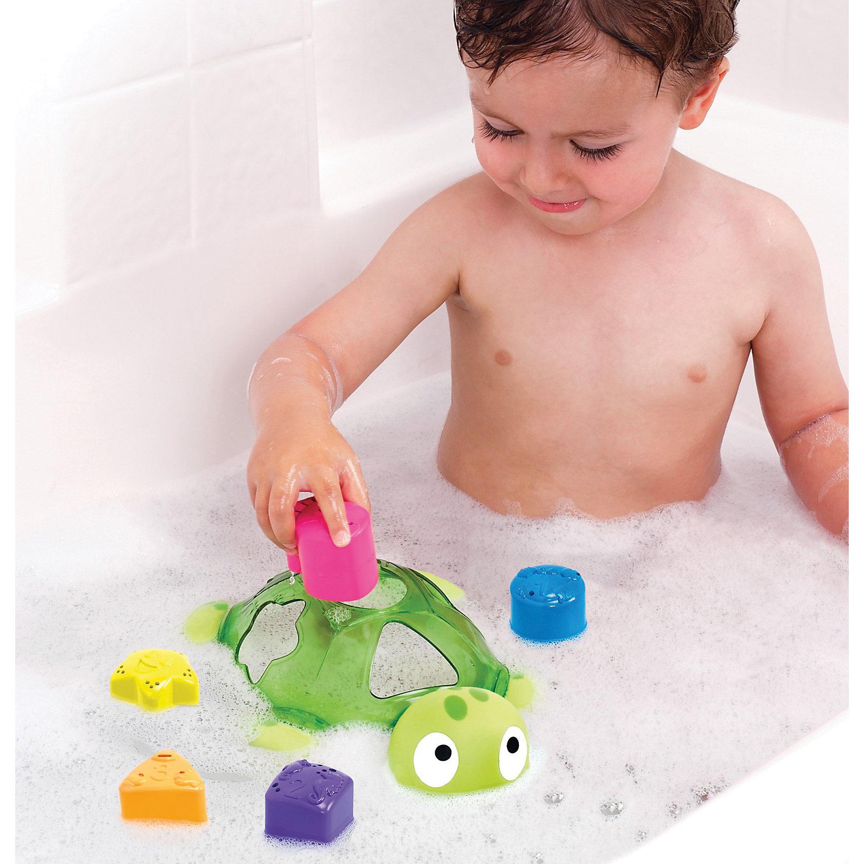 Игрушка для ванной Черепаха от 12мес, MunchkinТеперь малыши могут изучать цвет, форму, цифры с игрушкой - сортировкой во время купания, черпая, наливая, переливая воду с помощью плавающей черепахи и 5 формочек-стаканчиков разных цветов от Munchkin. Для каждой из формочек есть соответствующее отверстие в панцире черепахи.<br><br>Дополнительная информация:&#13;<br>&#13;<br>- Материал: пластик&#13;<br>- Размеры: 17.5 х 25.5 х 7.5 см&#13;<br>- В комплекте: черепаха и 5 формочек-стаканчиков<br><br>Игрушку для ванной Черепаха от 12мес, Munchkin можно купить в нашем магазине.<br><br>Ширина мм: 120<br>Глубина мм: 185<br>Высота мм: 295<br>Вес г: 376<br>Возраст от месяцев: 12<br>Возраст до месяцев: 48<br>Пол: Унисекс<br>Возраст: Детский<br>SKU: 3717344