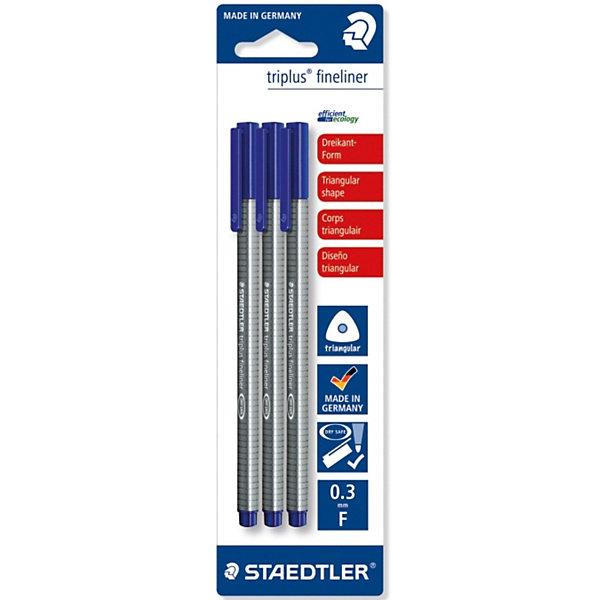 Капиллярная ручка Triplus Liner, синий, StaedtlerПисьменные принадлежности<br><br>Ширина мм: 200; Глубина мм: 20; Высота мм: 100; Вес г: 50; Возраст от месяцев: 72; Возраст до месяцев: 192; Пол: Унисекс; Возраст: Детский; SKU: 3717630;