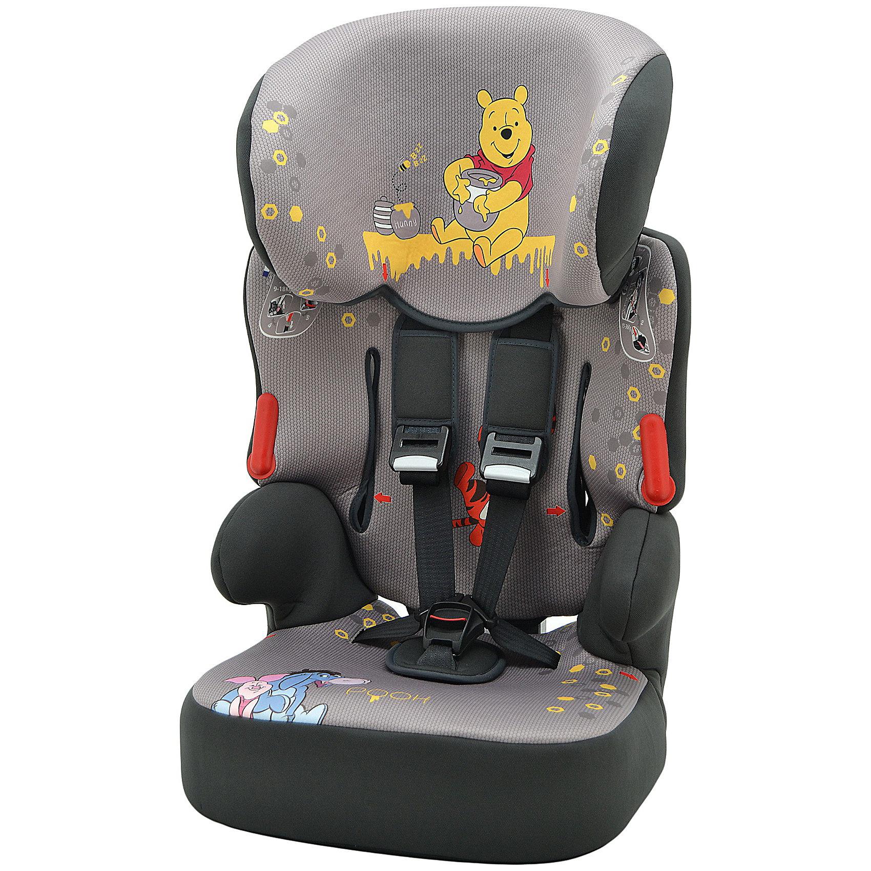 Автокресло Beline SP, 9-36 кг., Винни Пух,  NaniaУниверсальное автокресло Nania Beline Sp (Наниа) уникально тем, что растет вместе с малышом и предназначено для перевозки детей от 9 месяцев до 12 лет (9-36 кг). Мягкая обивка и улучшенный дизайн выгодно отличают автокресло Nania Beline Sp (Наниа). <br>Регулируемый подголовник имеет 6 положений по высоте, обеспечивая непревзойденный комфорт в пути. Автокресло имеет оптимальную защиту SP – Side Protection от боковых столкновений, соответствует европейским и мировым стандартам безопасности. Во время поездки ребенок до 4-х лет пристегивается внутренними ремнями безопасности. Для удобства посадки лямки фиксируются специальным зажимом, который прикреплен шнурком к спинке автокресла. Дети весом больше 18 кг удерживаются в кресле с помощью автомобильных ремней. <br>В зависимости от возраста ребенка кресло используется со спинкой или без. Бустер подходит для перевозки детей старше 6 лет. Малыш полюбит путешествия в кресле, ведь его дизайн выполнен в стиле замечательного мультфильма про Винни Пуха. <br><br>Дополнительная информация:<br><br>- Группа: 1/2/3 (9-36)кг (приблизительно от года до 12 лет);<br>- Соответствует Европейскому Стандарту ЕСЕ R44/04; <br>- Состоит из двух частей: съемная спинка и бустер;<br>- Подголовник кресла регулируется в шести разных положениях по высоте;<br>- Усиленная боковая защита SP (Side Protection), защита от боковых ударов;<br>- Пятиточечные внутренние регулируемые ремни безопасности с мягкими накладками;<br>- Анатомически правильно сформированное сидение с мягкой подкладкой;<br>- Съемные чехлы (возможна ручная стирка при температуре 30°);<br>- Уникальный дизайн в стиле мультфильма про Винни Пуха;<br>- Цвет: серый;<br>- Размеры: 47 х 44 х 79 см;<br>- Вес: 4,7 кг.<br><br>Автокресло Beline SP,  9-36 кг., Винни Пух, Nania (Наниа) можно купить  в нашем интернет-магазине.<br><br>Ширина мм: 500<br>Глубина мм: 450<br>Высота мм: 710<br>Вес г: 4550<br>Возраст от месяцев: 12<br>Возраст до месяцев: 144<br>