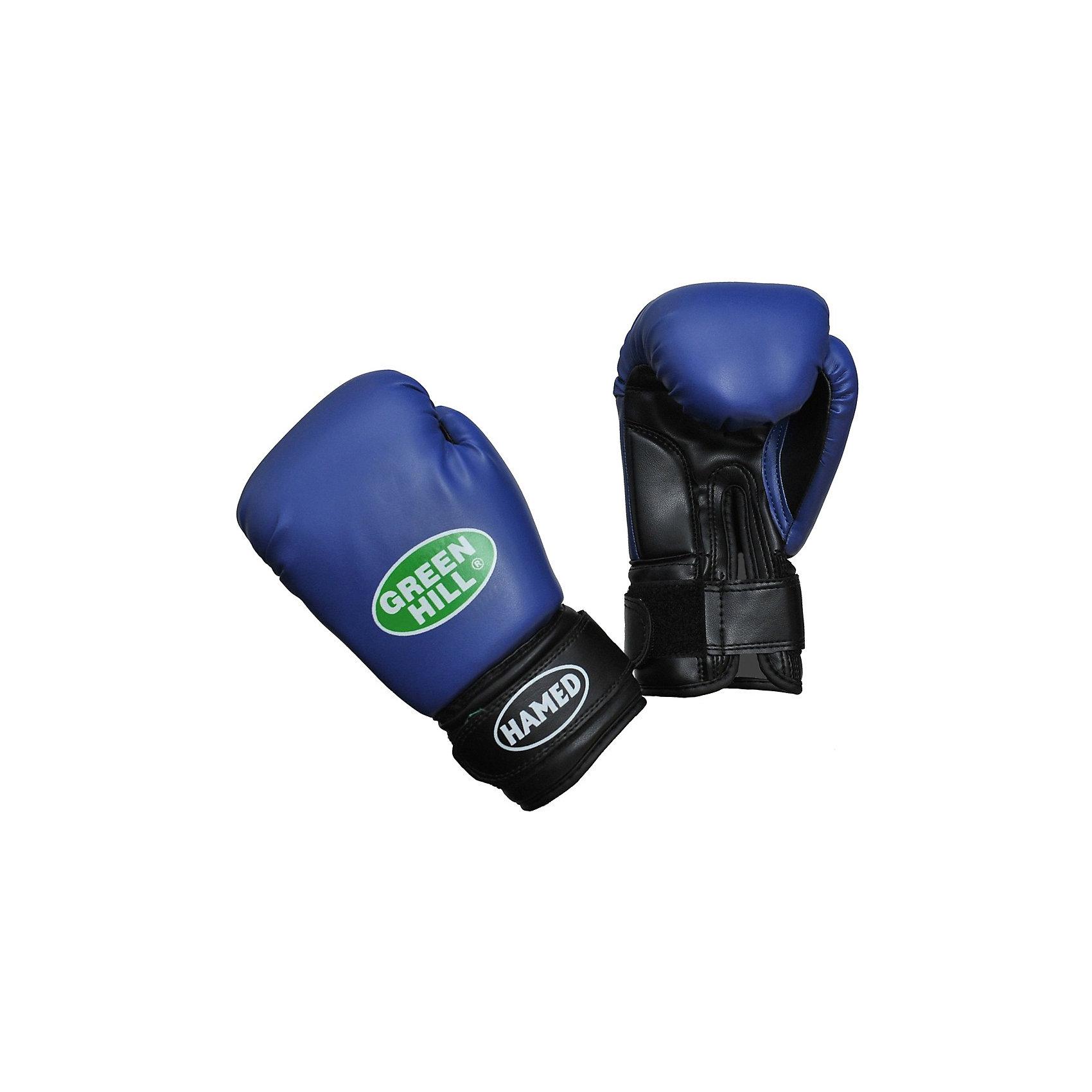 Перчатки детские HAMED (6 унций), Green HillПерчатки для бокса и кикбоксинга сделаны из качественной искусственной кожи. Прекрасно сидят на руке и надежно фиксируют руку застежкой на липучке. Вес 6 унций. Отличный выбор для будущих чемпионов.<br><br>Дополнительная информация:<br><br>- Состав: Искусственная кожа<br>- Размеры упаковки: 280 х 110 х120 мм<br>- Вес с упаковкой: 160 г.<br><br>Перчатки детские HAMED (6 унций), Green Hill (Грин Хилл) можно купить в нашем магазине.<br><br>Ширина мм: 280<br>Глубина мм: 110<br>Высота мм: 120<br>Вес г: 160<br>Возраст от месяцев: 72<br>Возраст до месяцев: 144<br>Пол: Мужской<br>Возраст: Детский<br>SKU: 3722374