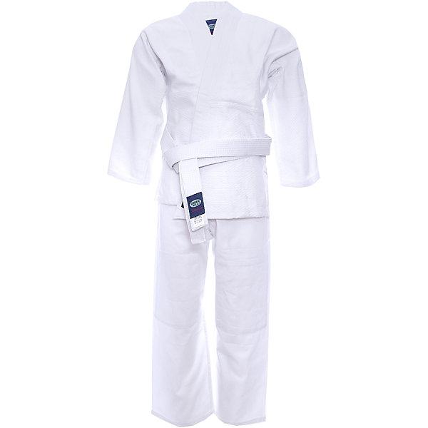 Кимоно Дзю-до JUNIOR  GREEN HILLСпортивная одежда<br>Кимоно Дзюдо Junior для начинающих спортсменов. Кимоно специально разработано для тренировок юношей. Куртка усилена двойными швами на плечах, рукавах и груди. На плечах имеется пространство для нашивки национального флага страны. В комплект включен белый пояс для куртки.<br><br>Дополнительная информация:<br><br>- Плотность 350г\кв.м<br>- Состав: хлопок 100%<br>- Размер упаковки:160 х 3 х 55 мм<br>- Вес с упаковкой: 980 г.<br><br>Кимоно Дзюдо JUNIOR  GREEN HILL можно купить в нашем магазине.<br><br>Ширина мм: 130<br>Глубина мм: 3<br>Высота мм: 45<br>Вес г: 970<br>Цвет: белый<br>Возраст от месяцев: 72<br>Возраст до месяцев: 144<br>Пол: Мужской<br>Возраст: Детский<br>Размер: 120,150,130,140<br>SKU: 3722407