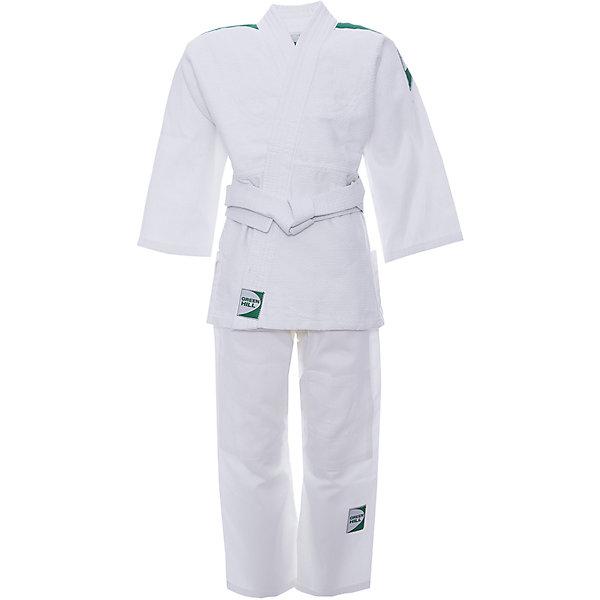 Кимоно Дзю-до KIDS  GREEN HILLСпортивная одежда<br>Кимоно Дзюдо KIDS Green Hill JSC-10464 - детская модель, хорошо подходит для тренировок, благодаря своему натуральному составу из 100% хлопка. Плотность ткани 226г/кв.м - оптимальное соотношение износостойкости и легкости. Двойные швы на плечах, груди, рукавах – обеспечивают дополнительную прочность куртки. Вставки в пройме, в районе колен брюк обеспечивают их дополнительную прочность. В комплект входит белый пояс.<br><br>Дополнительная информация:<br><br>- Плотность ткани 226г/кв.м<br>- Состав: хлопок 100%<br>- Размер упаковки:150 х 3 х 50 мм<br>- Вес с упаковкой: 975 г.<br><br>Кимоно Дзюдо KIDS  GREEN HILL можно купить в нашем магазине.<br>Ширина мм: 120; Глубина мм: 3; Высота мм: 40; Вес г: 960; Цвет: белый; Возраст от месяцев: 72; Возраст до месяцев: 144; Пол: Мужской; Возраст: Детский; Размер: 110,130,120,140; SKU: 3722412;